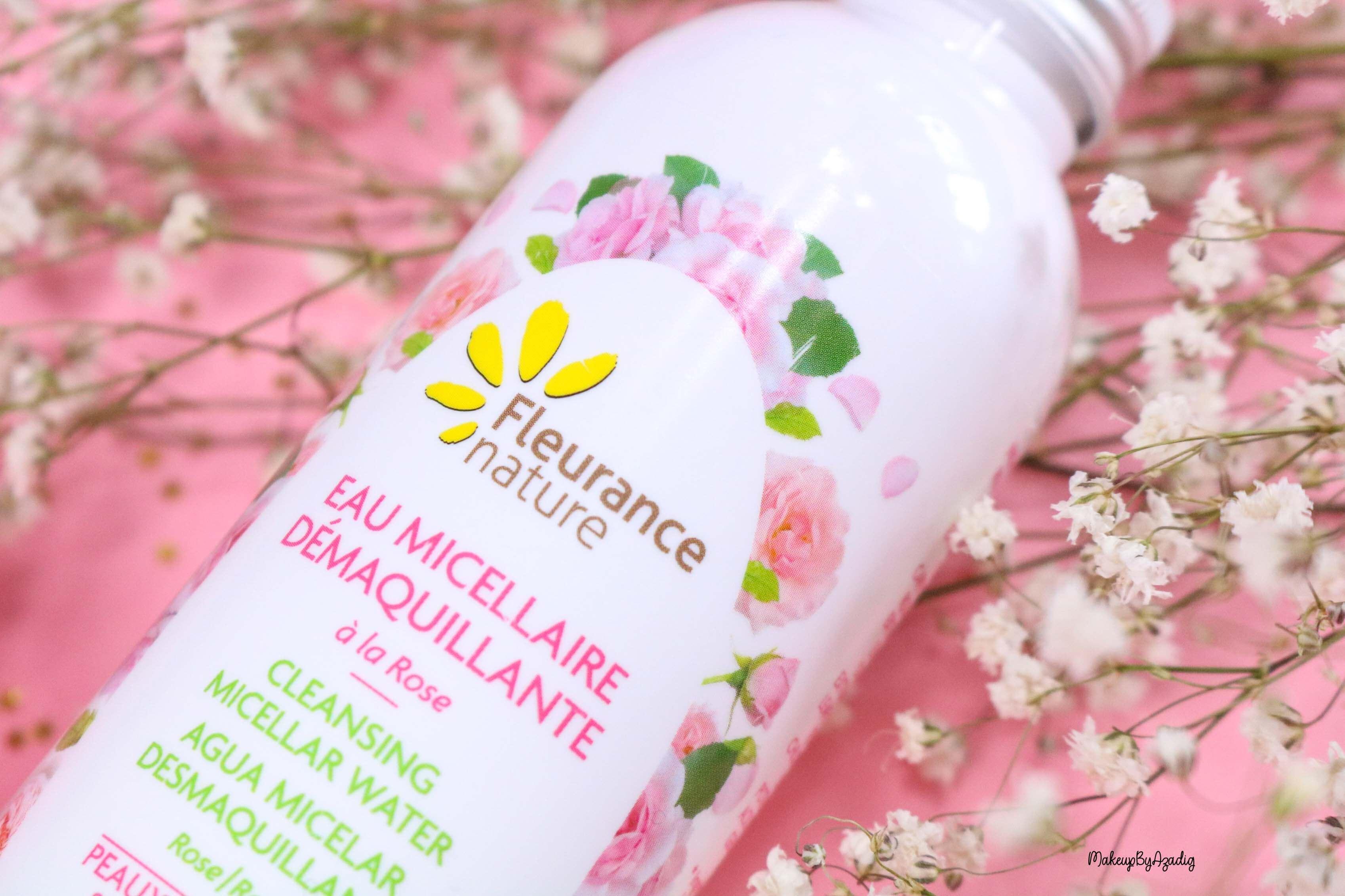 revue-eau-micellaire-demaquillante-eau-florale-rose-fleurance-nature-demaquillage-parfait-peau-acneique-makeupbyazadig-avis-prix-promo-logo
