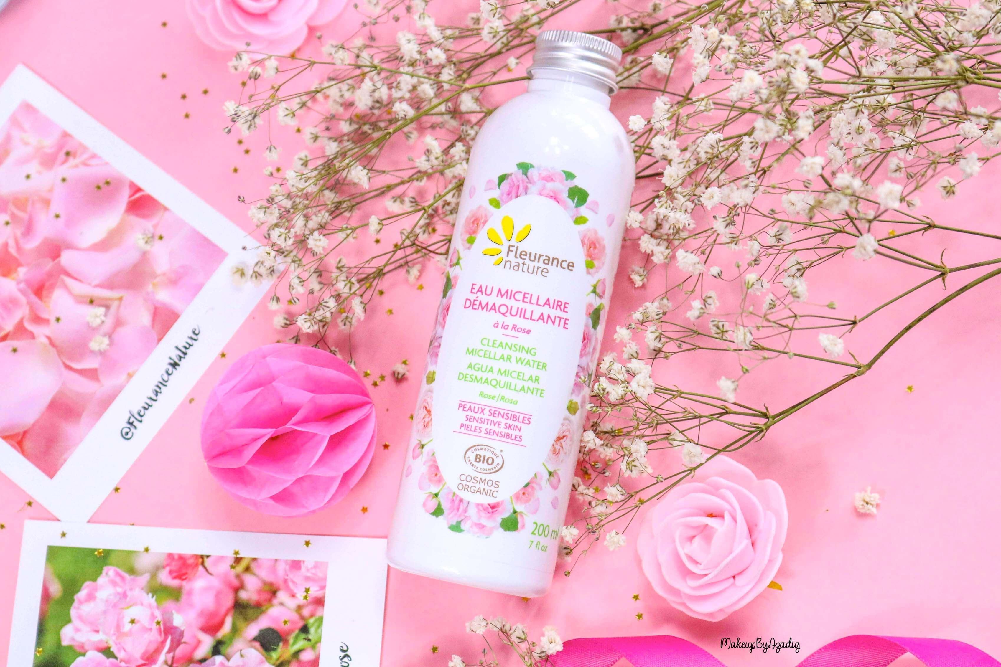 revue-eau-micellaire-demaquillante-eau-florale-rose-fleurance-nature-demaquillage-parfait-peau-acneique-makeupbyazadig-avis-prix-promo-miniature