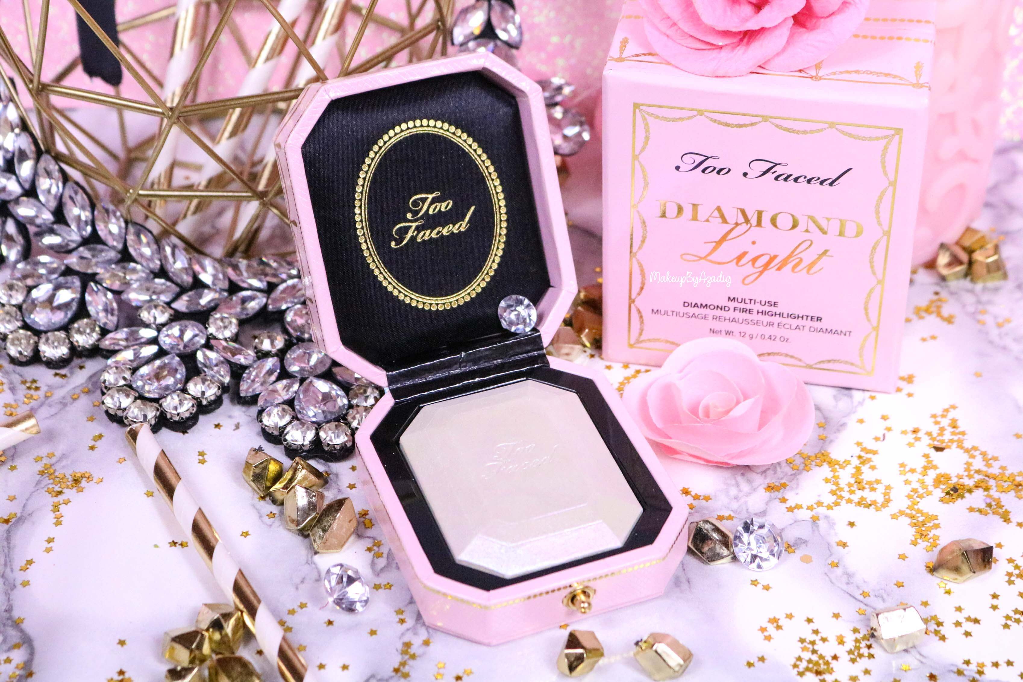 revue-highlighter-diamond-light-toofaced-enlumineur-diamant-collection-makeup-makeupbyazadig-sortie-france-influencer-swatch-avis-prix-miniature