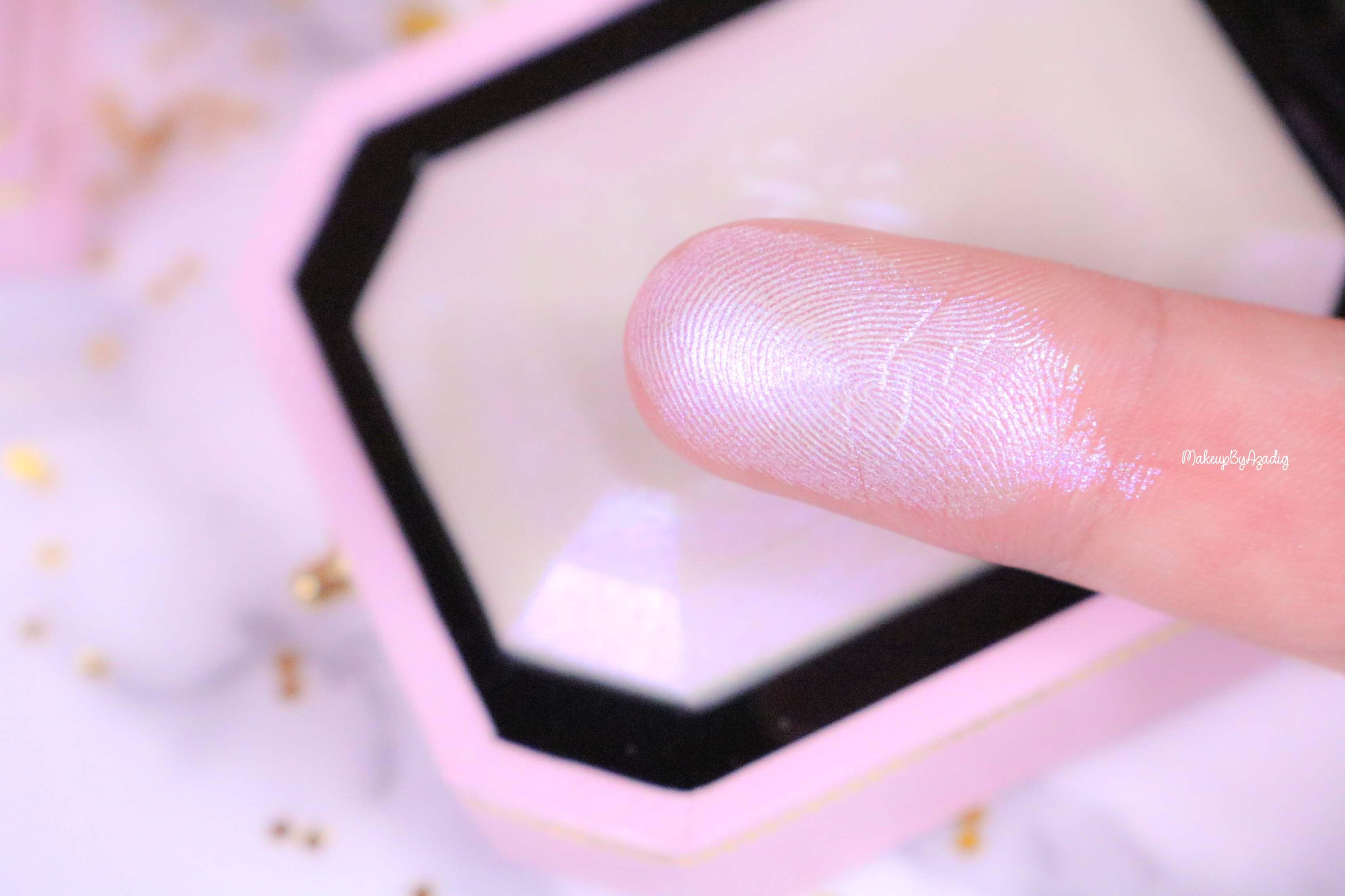 revue-highlighter-diamond-light-toofaced-enlumineur-diamant-collection-makeup-makeupbyazadig-sortie-france-influencer-swatch-avis-prix-swatches