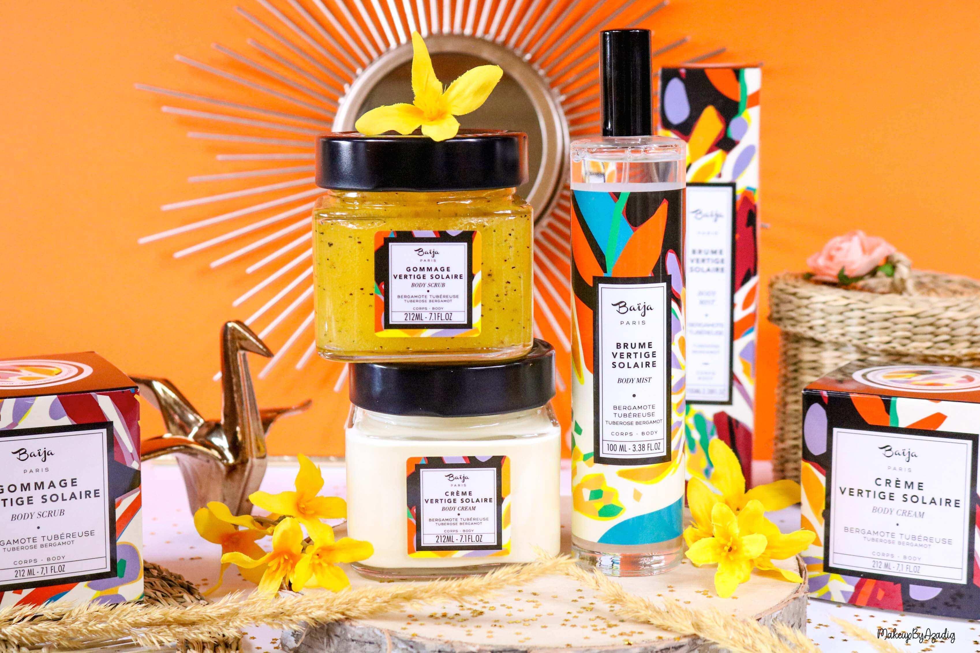 nouveaute-soin-baija-vertige-solaire-sephora-promo-code-gommage-creme-corps-brume-avis-prix-makeupbyazadig-qualite-miniature