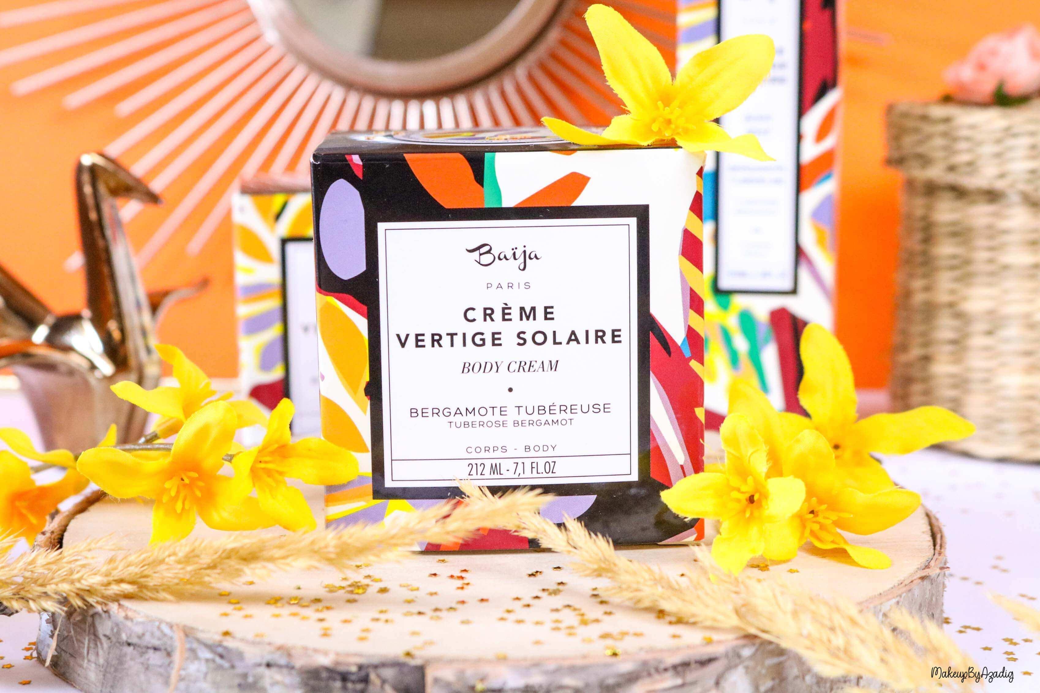 nouveaute-soin-baija-vertige-solaire-sephora-promo-code-gommage-creme-corps-brume-avis-prix-makeupbyazadig-qualite-packaging