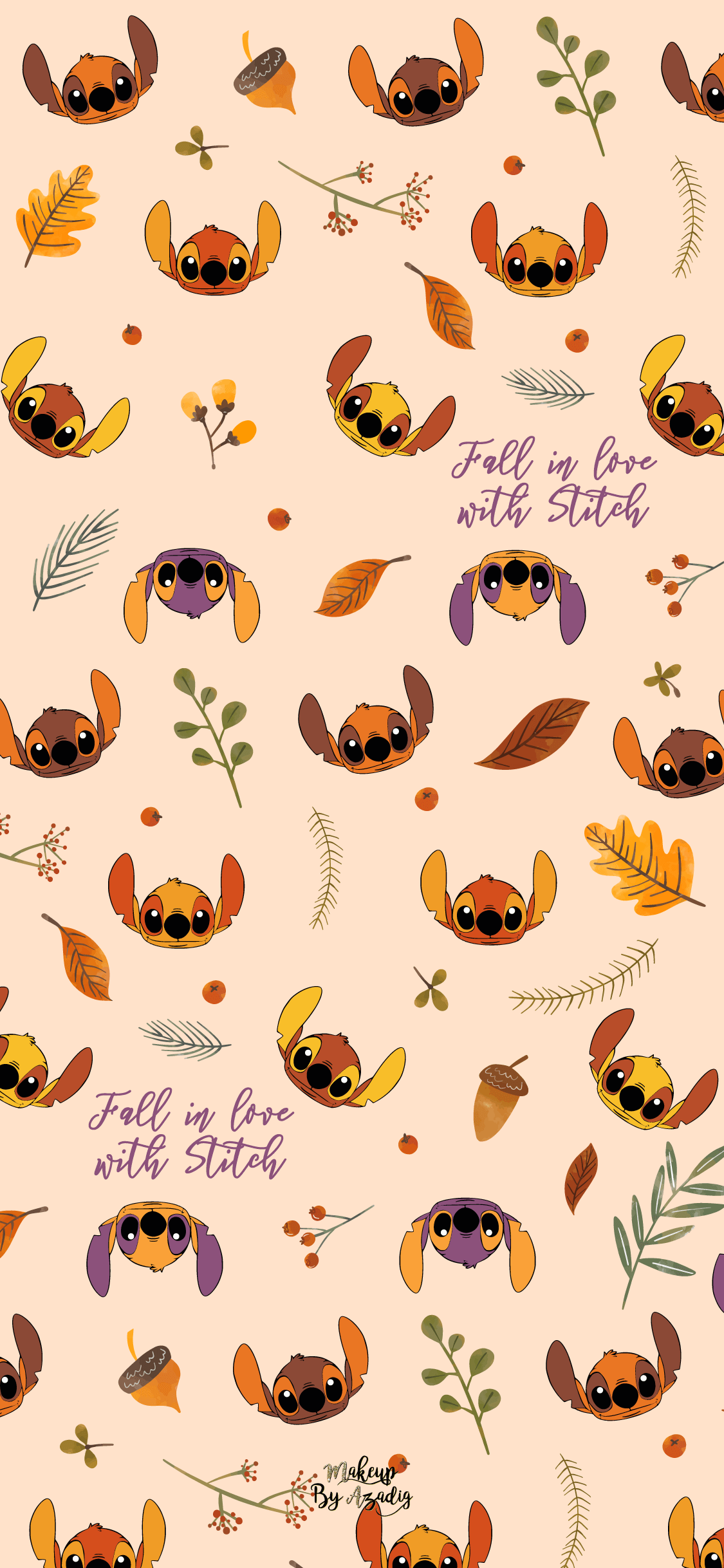fond-decran-wallpaper-stitch-autumn-automne-fallinlove-disney-iphone-X-makeupbyazadig-tendance