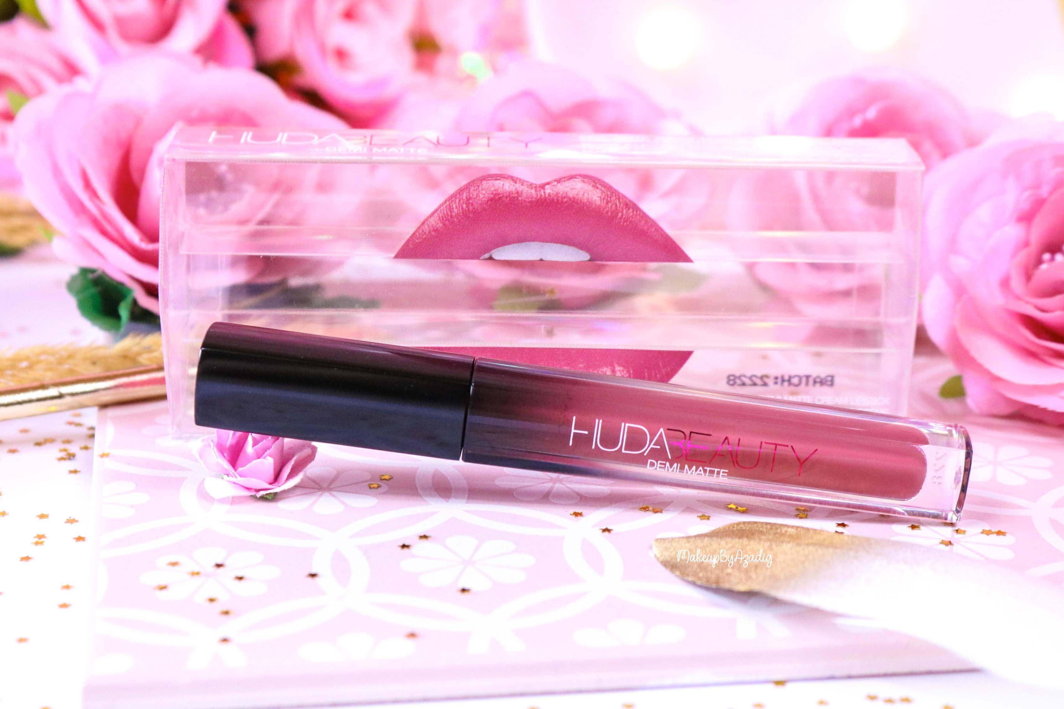 revue-marque-huda-beauty-rouge-a-levres-demi-matte-coffret-avis-prix-sheikha-makeupbyazadig-packaging-2