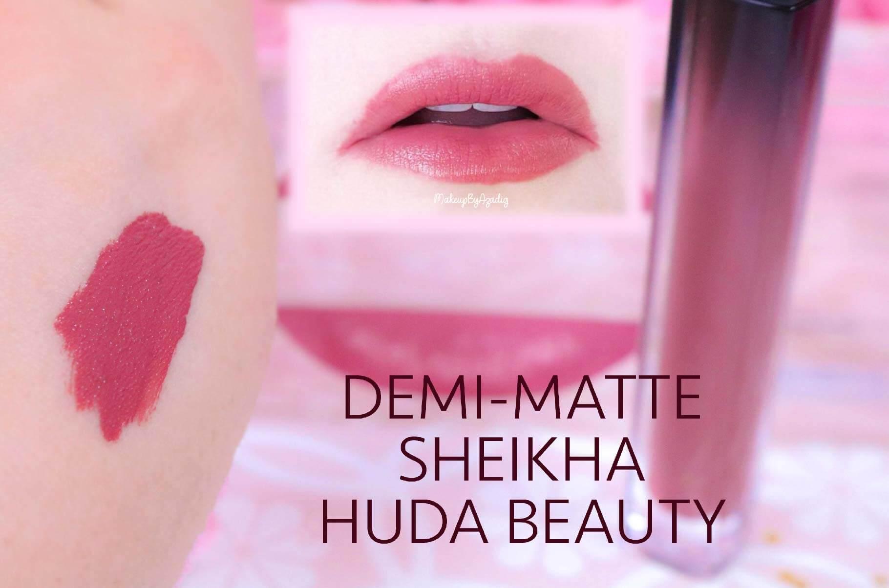 revue-marque-huda-beauty-rouge-a-levres-demi-matte-coffret-avis-prix-sheikha-makeupbyazadig-swatch-2