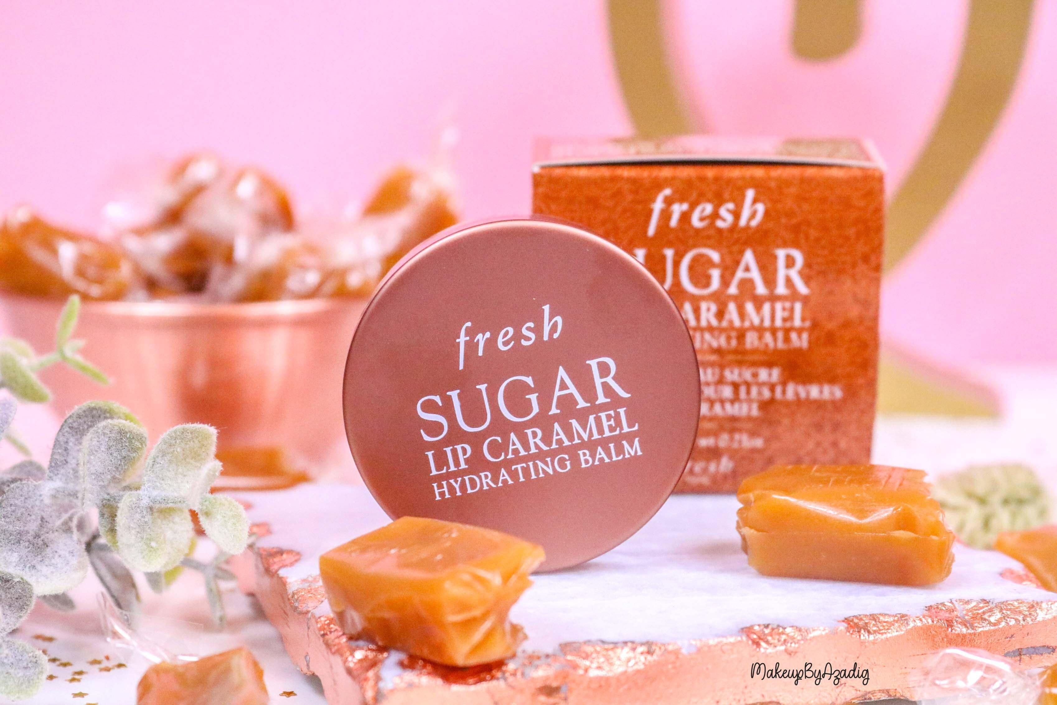 revue-baume-sucre-fresh-beauty-skincare-caramel-sugar-lip-caramel-sephora-makeupbyazadig-avis-prix-balm-peche