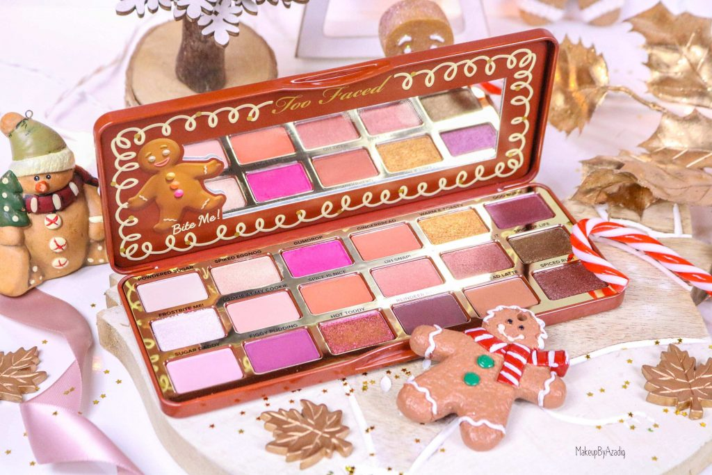 revue-palette-too-faced-gingerbread-spice-noel-france-makeupbyazadig-avis-prix-swatch-cute-miniature