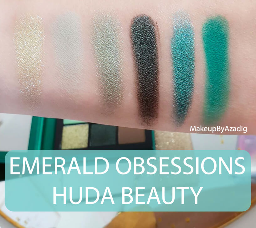 revue-review-palette-emerald-obsessions-huda-beauty-topaz-sapphire-avis-prix-swatch-makeupbyazadig-meilleure-swatches