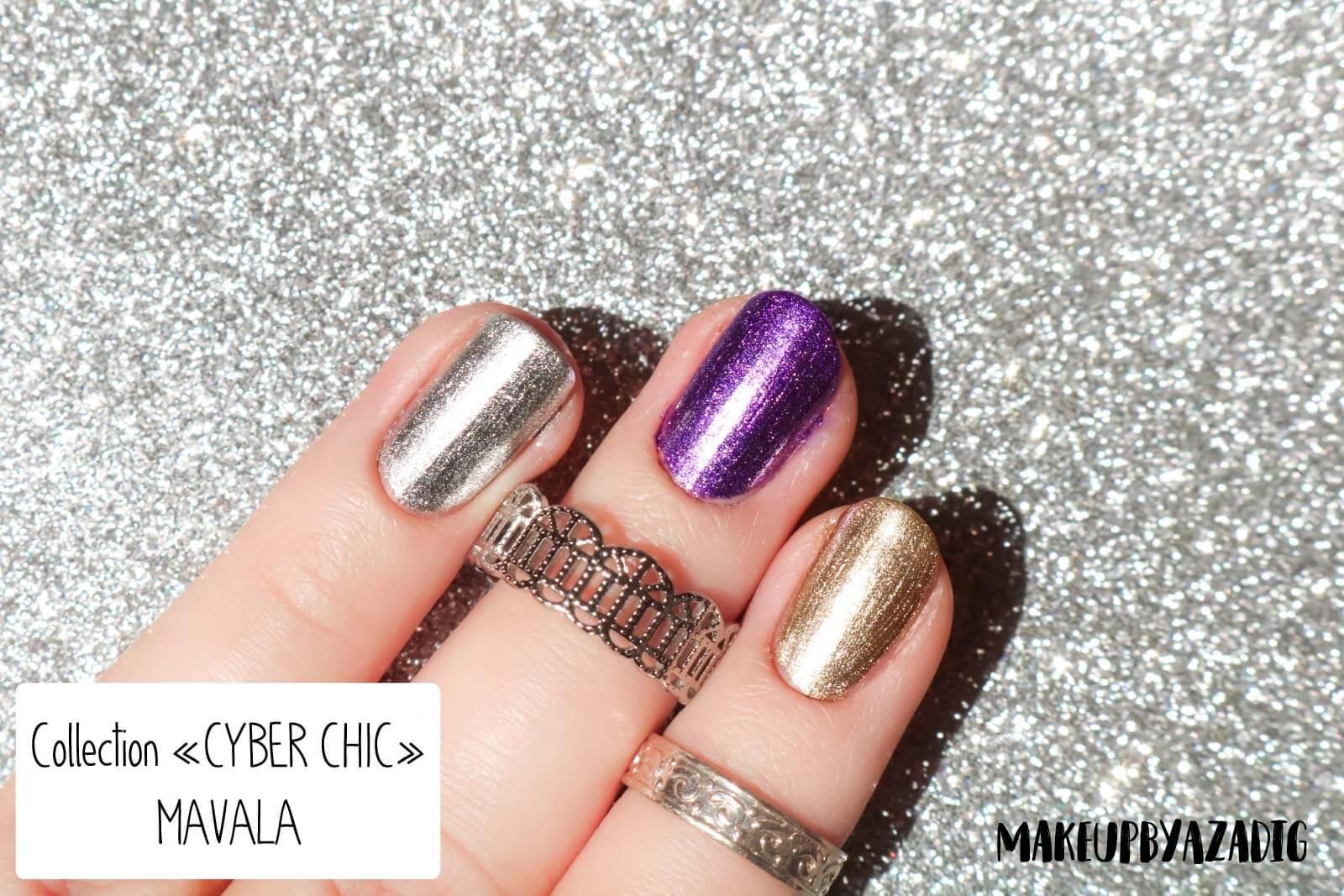 revue-collection-vernis-cyber-chic-fetes-noel-metallique-gold-silver-makeupbyazadig-swatch-avis-prix-swatches