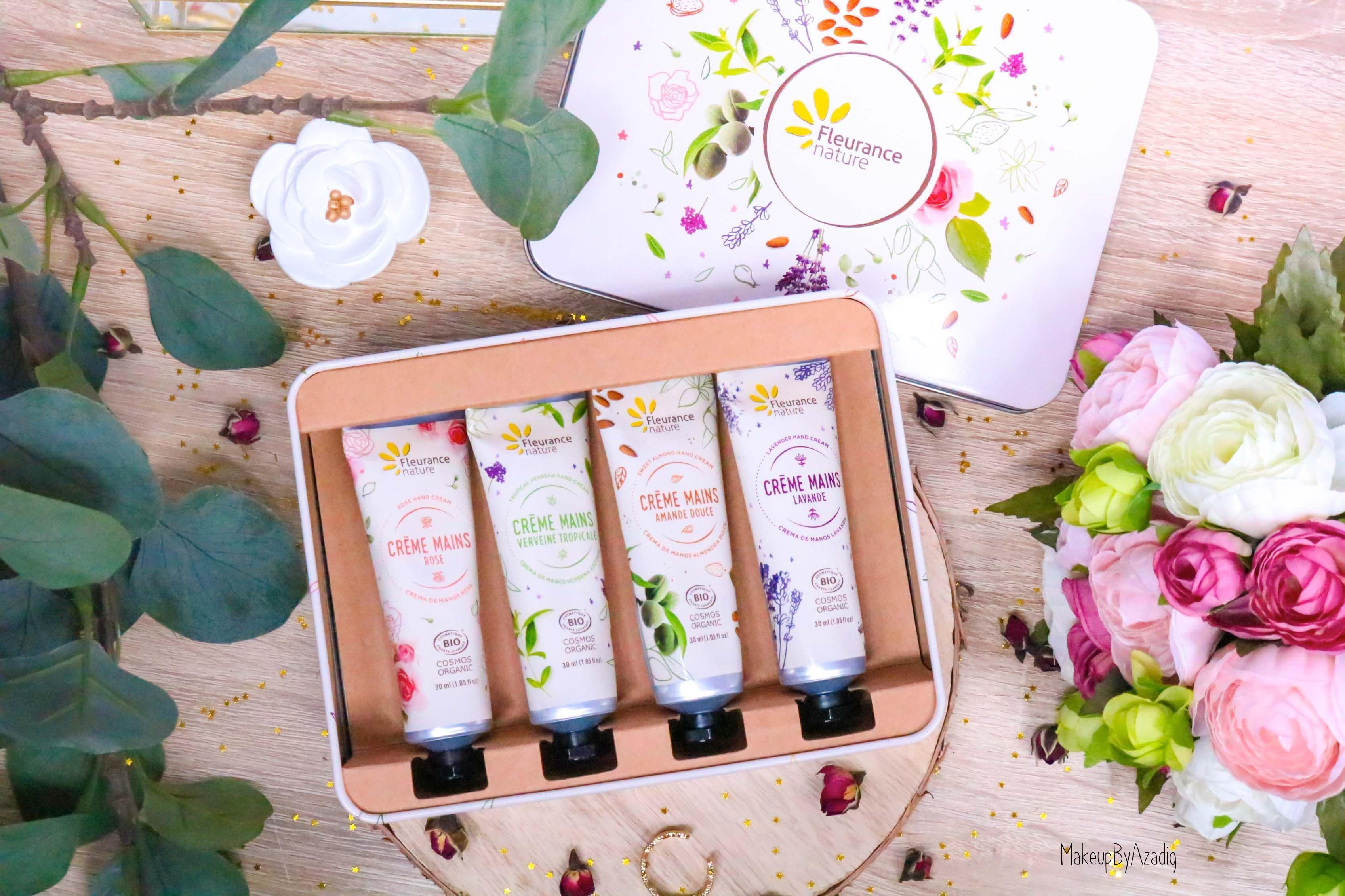 revue-creme-hydratante-reparatrice-mains-hand-bio-beaute-fleurance-nature-makeupbyazadig-verveine-lavande-rose-amande-cadeau