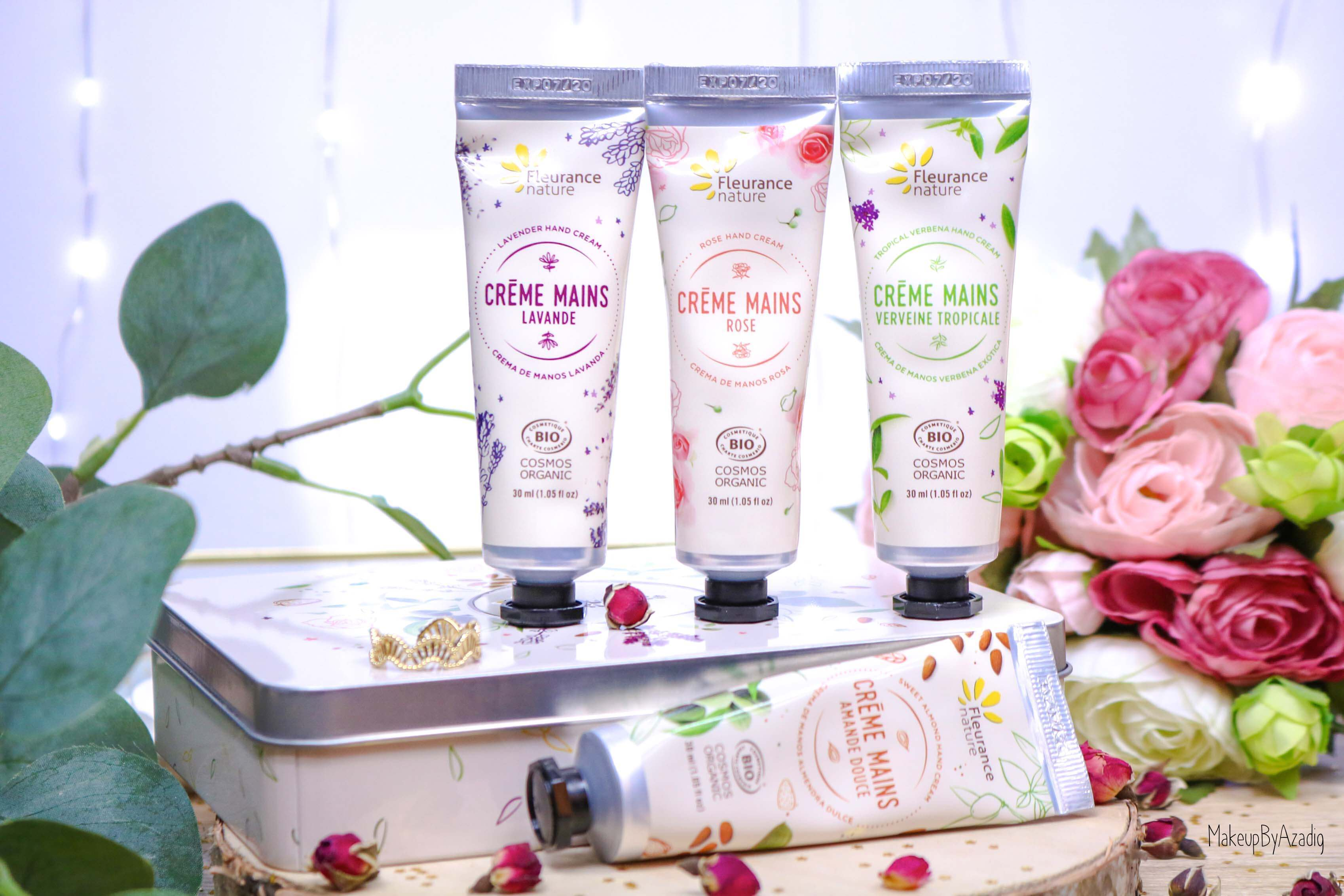 revue-creme-hydratante-reparatrice-mains-hand-bio-beaute-fleurance-nature-makeupbyazadig-verveine-lavande-rose-amande-miniature