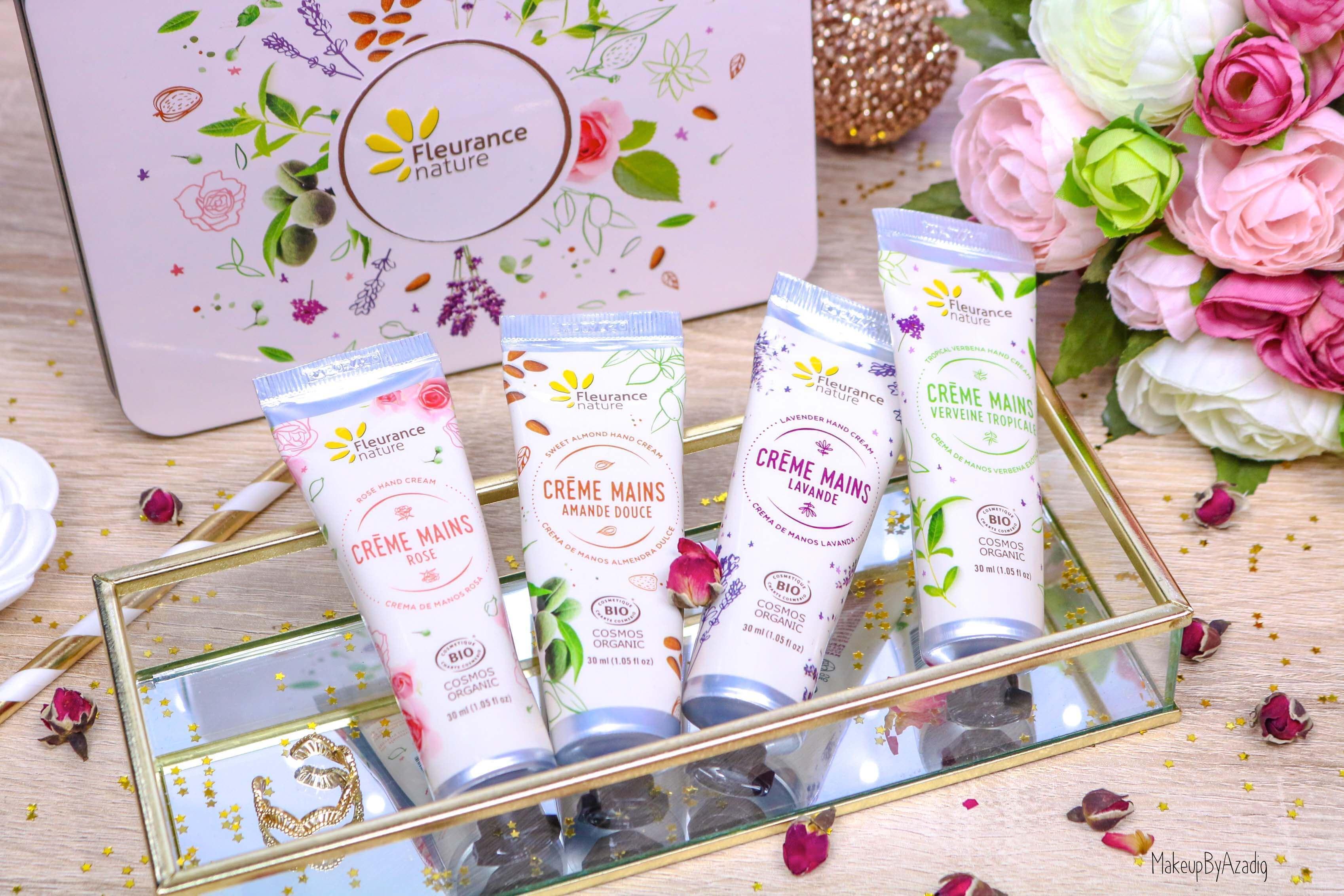 revue-creme-hydratante-reparatrice-mains-hand-bio-beaute-fleurance-nature-makeupbyazadig-verveine-lavande-rose-amande-nature