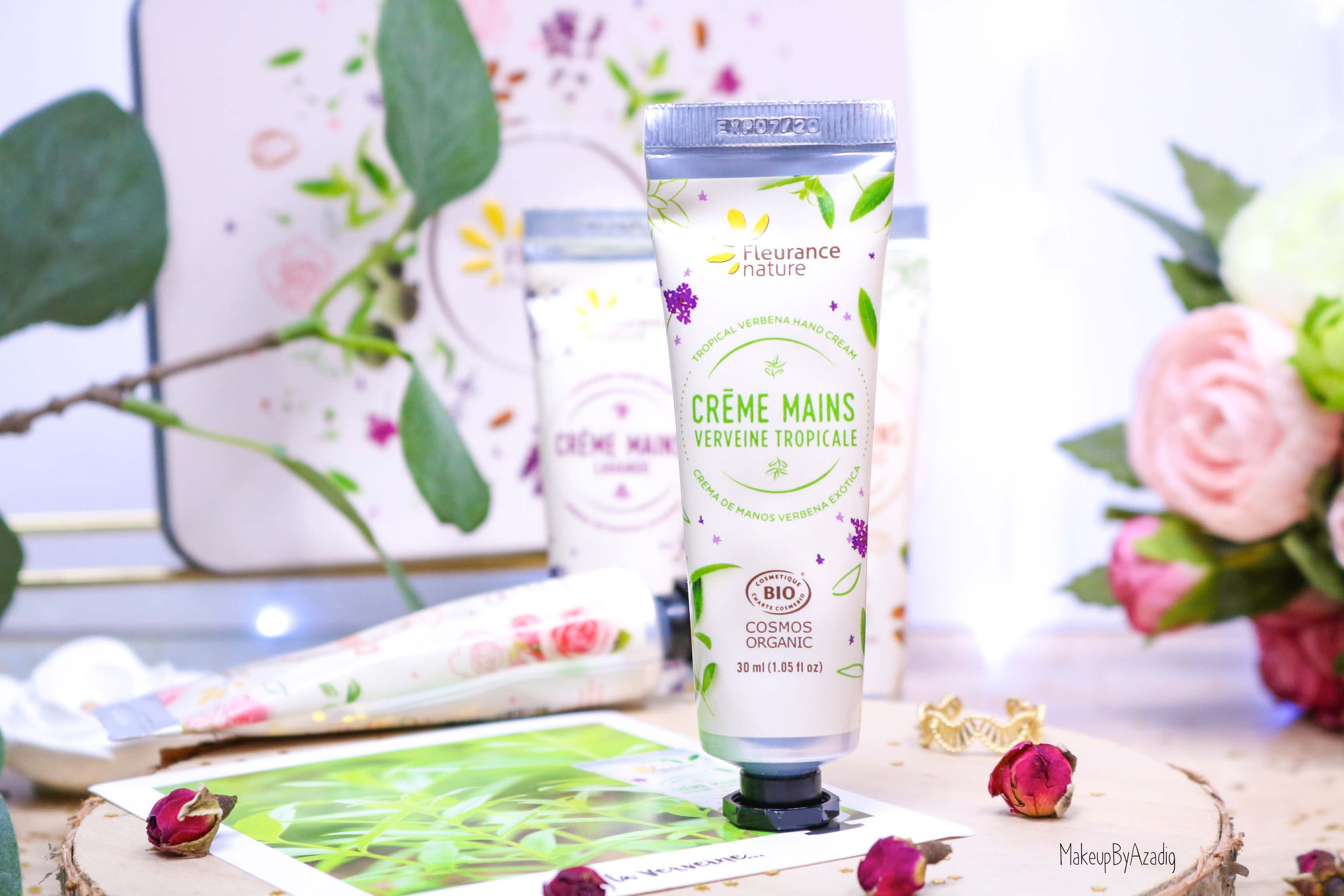 revue-creme-hydratante-reparatrice-mains-hand-bio-beaute-fleurance-nature-makeupbyazadig-verveine-lavande-rose-amande-tropicale