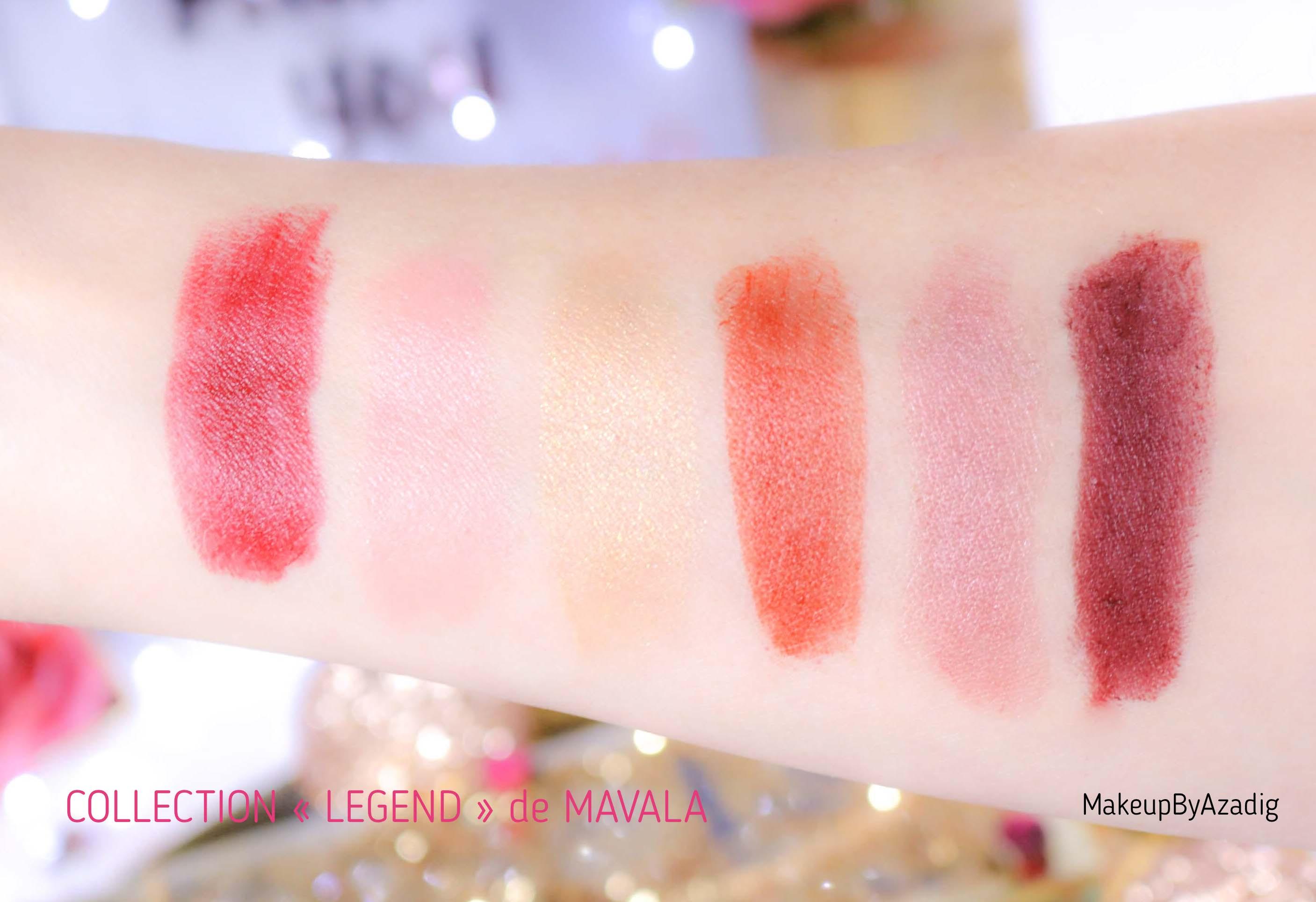 revue-rouge-levres-mavala-soin-monoprix-collection-legend-automne-hiver-rouge-bordeaux-dore-avis-prix-makeupbyazadig-swatches