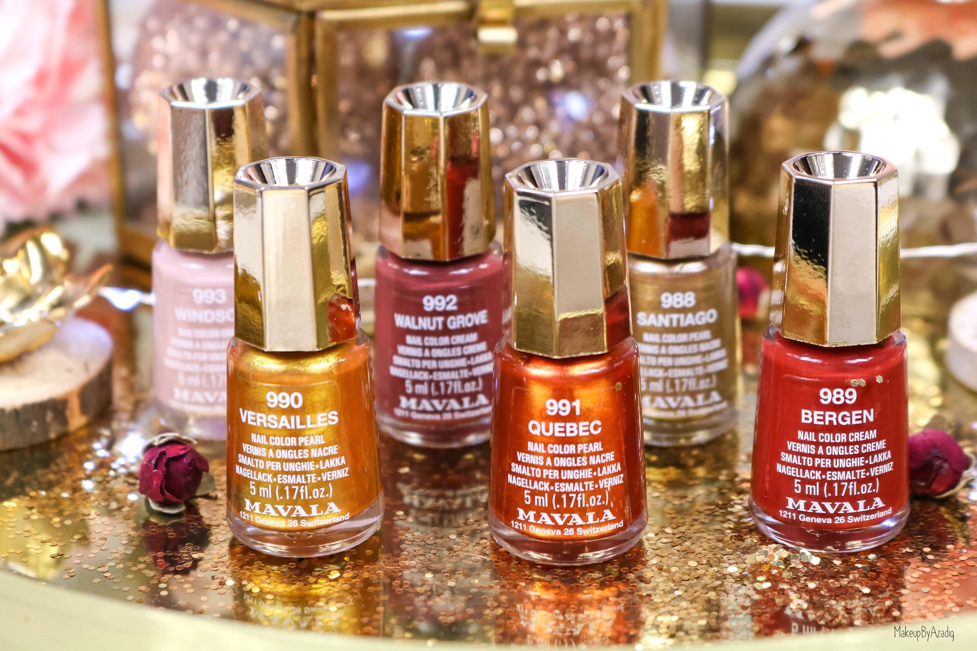 revue-collection-vernis-mavala-nails-heritage-chic-bordeaux-cuivre-metallique-gold-rouge-makeupbyazadig-swatch-avis-prix-mavala
