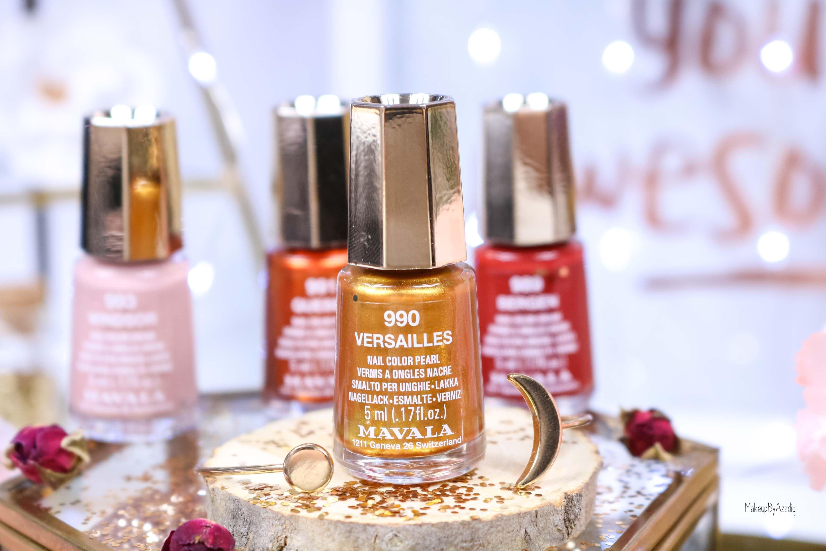 revue-collection-vernis-mavala-nails-heritage-chic-bordeaux-cuivre-metallique-gold-rouge-makeupbyazadig-swatch-avis-prix-versailles