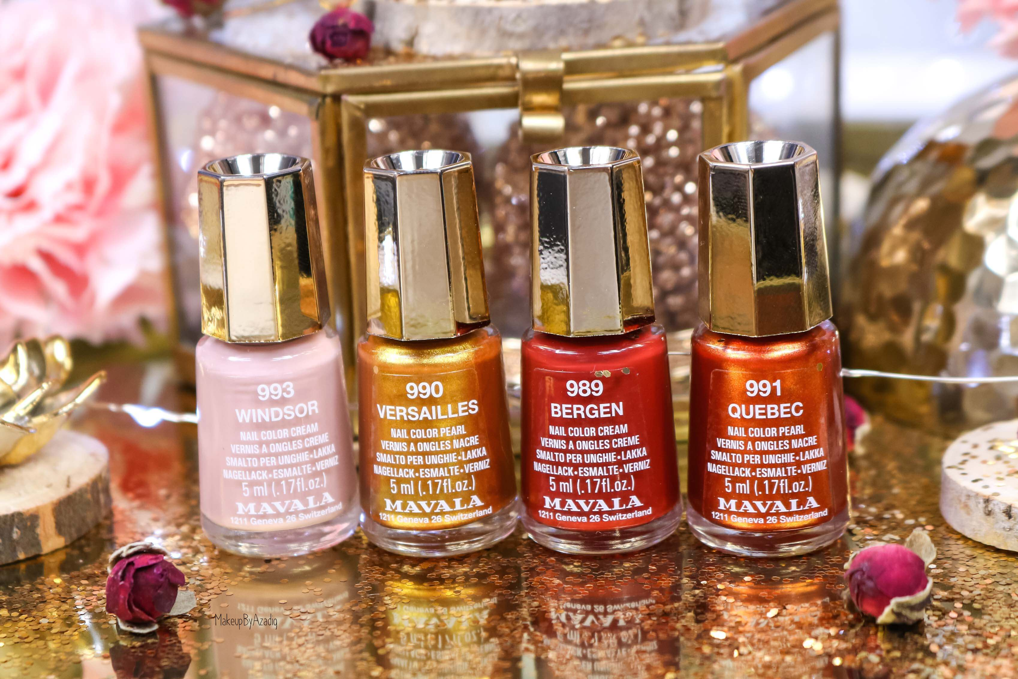 revue-collection-vernis-nails-heritage-chic-bordeaux-cuivre-metallique-gold-rouge-makeupbyazadig-swatch-avis-prix-parapharmacie