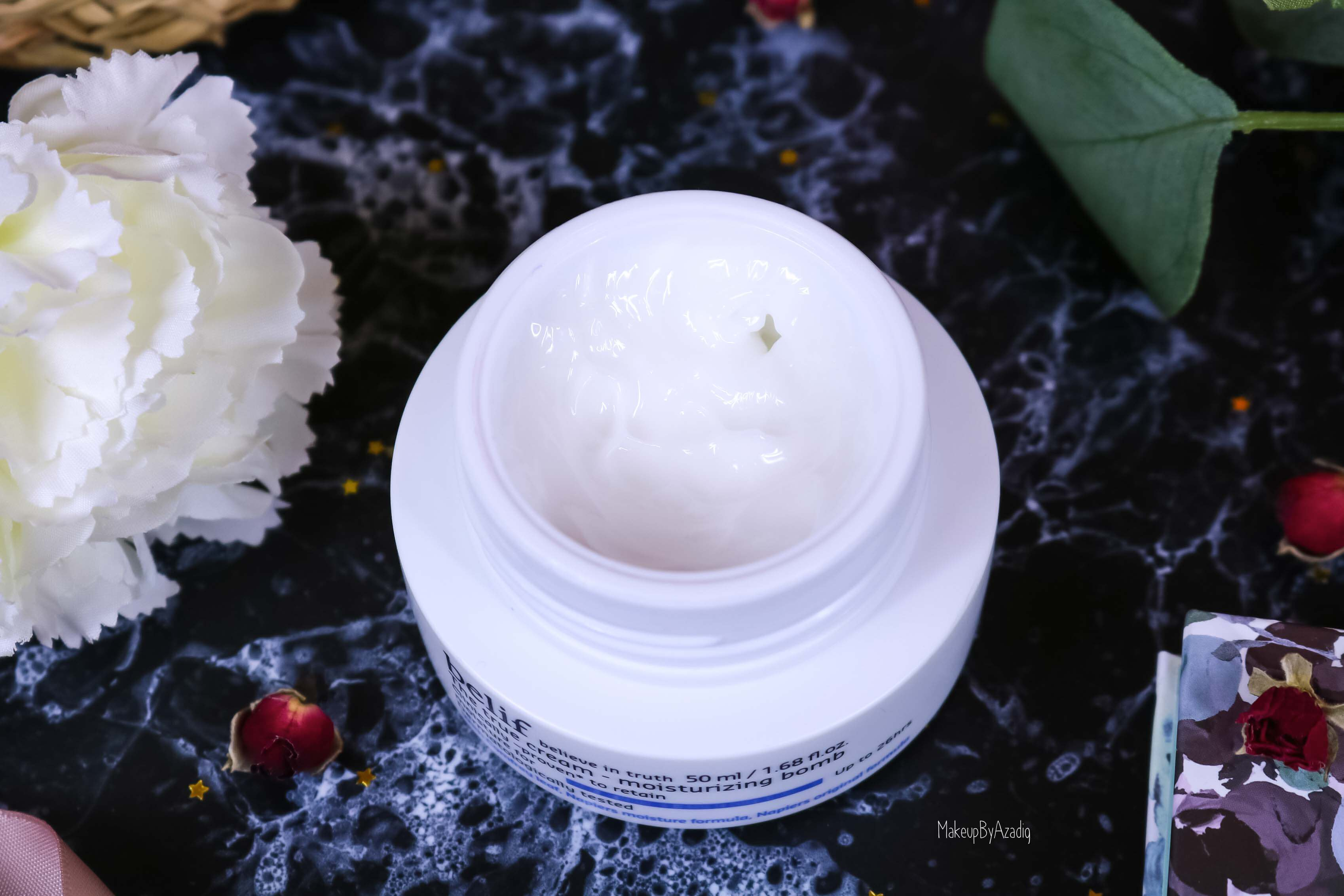 revue-review-creme-soin-belif-the-true-cream-bomb-avis-prix-sephora-france-makeupbyazadig-hydratant-visage-instagram