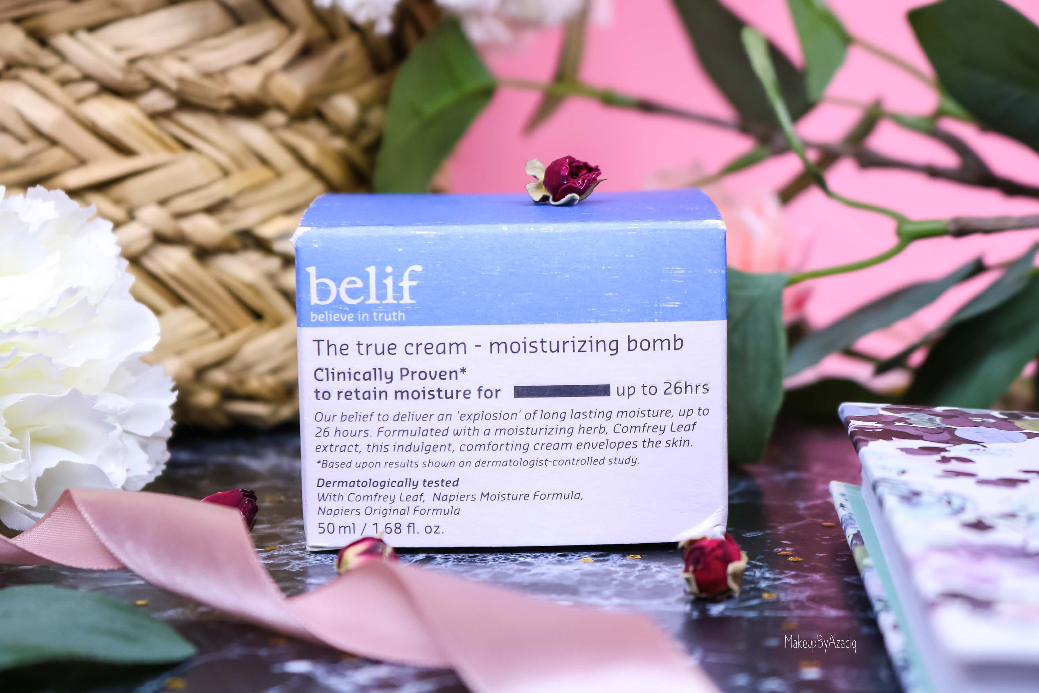 revue-review-creme-soin-belif-the-true-cream-bomb-avis-prix-sephora-france-makeupbyazadig-hydratant-visage-moisturizing