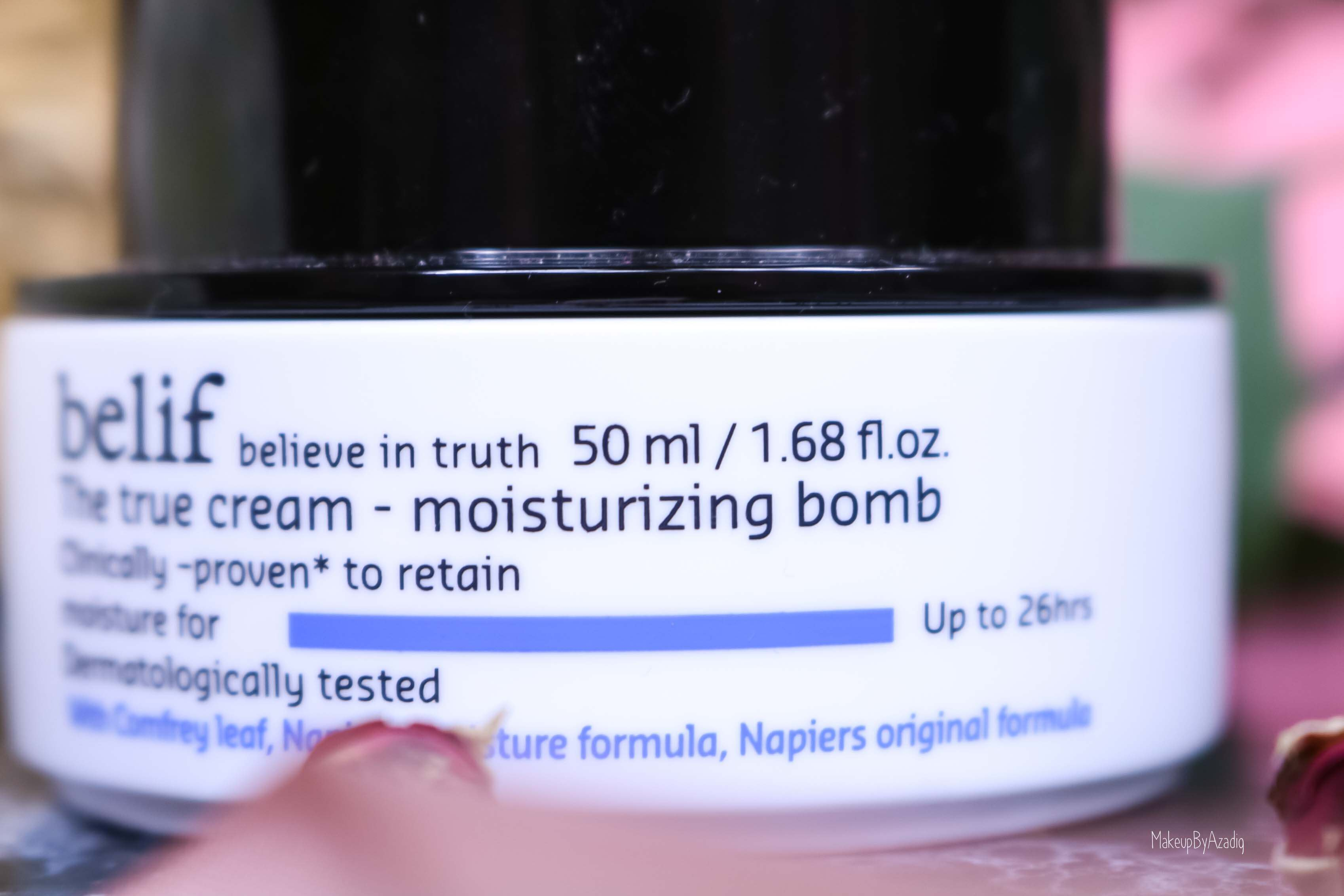 revue-review-creme-soin-belif-the-true-cream-bomb-avis-prix-sephora-france-makeupbyazadig-hydratant-visage-quantite