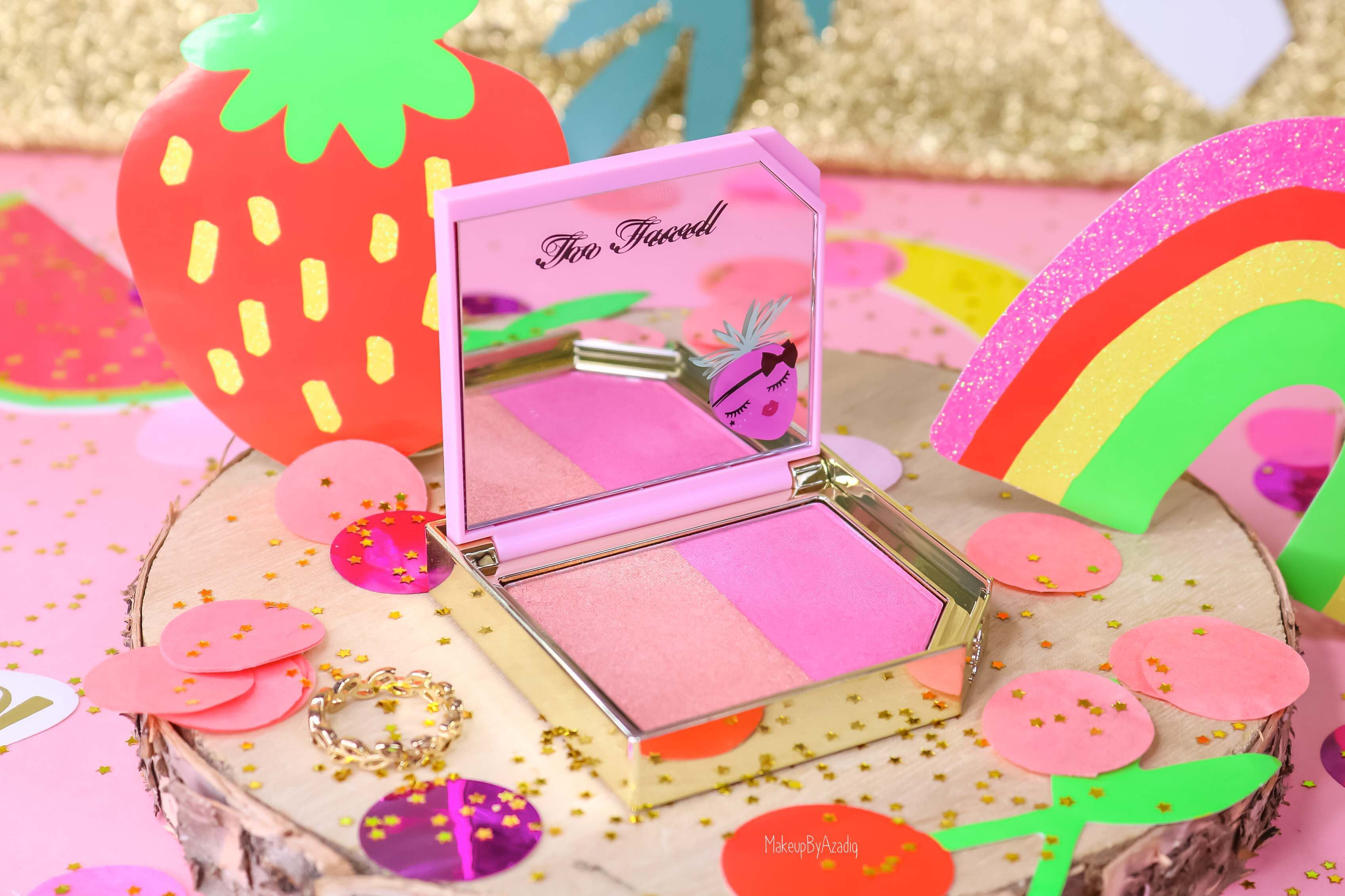 revue-collection-tutti-frutti-too-faced-blush-fruit-cocktail-strobeberry-sephora-france-makeupbyazadig-swatch-avis-prix-rose-pink