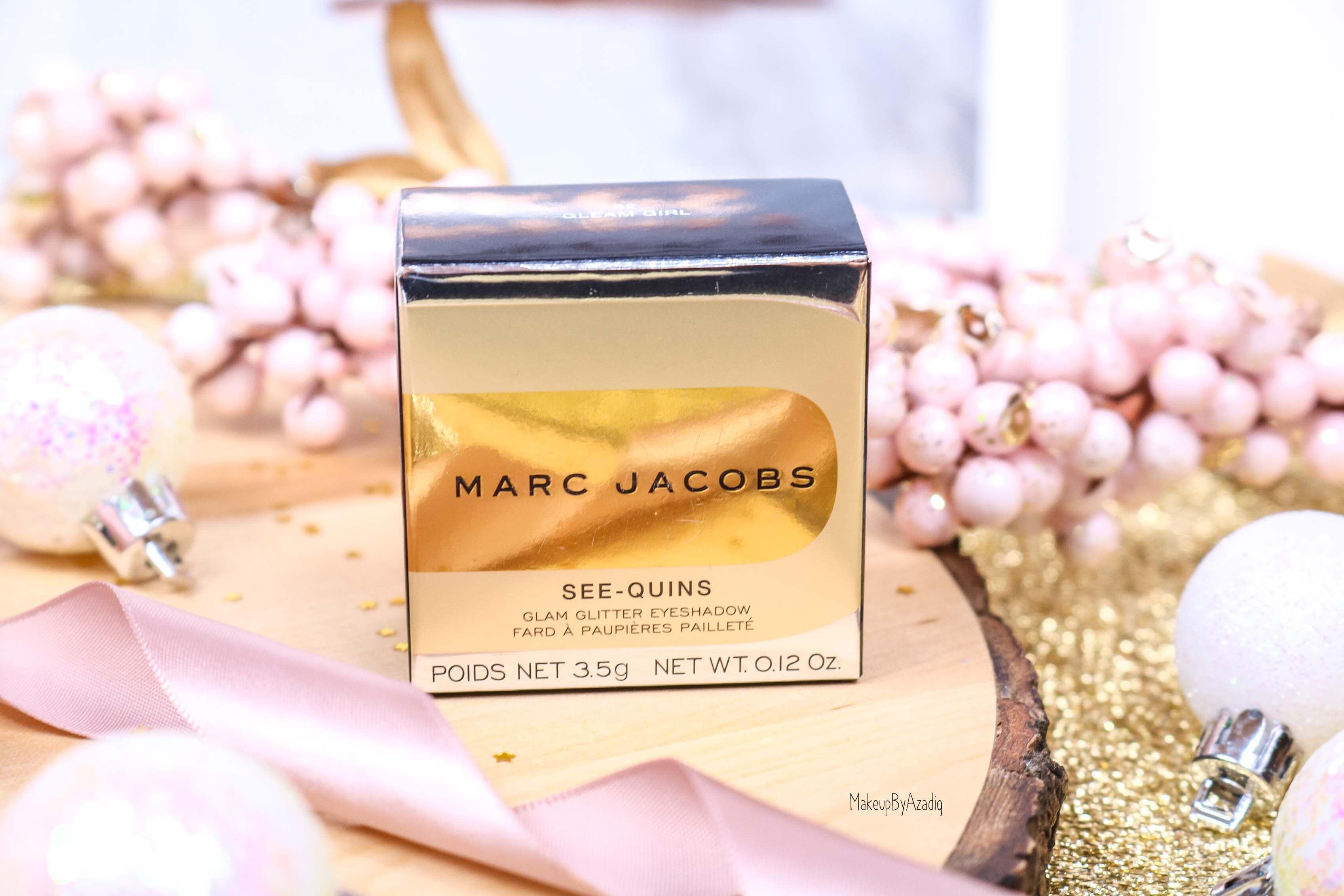 revue-fard-paupieres-paillete-marc-jacobs-beauty-gleam-girl-makeupbyazadig-avis-prix-swatch-gold