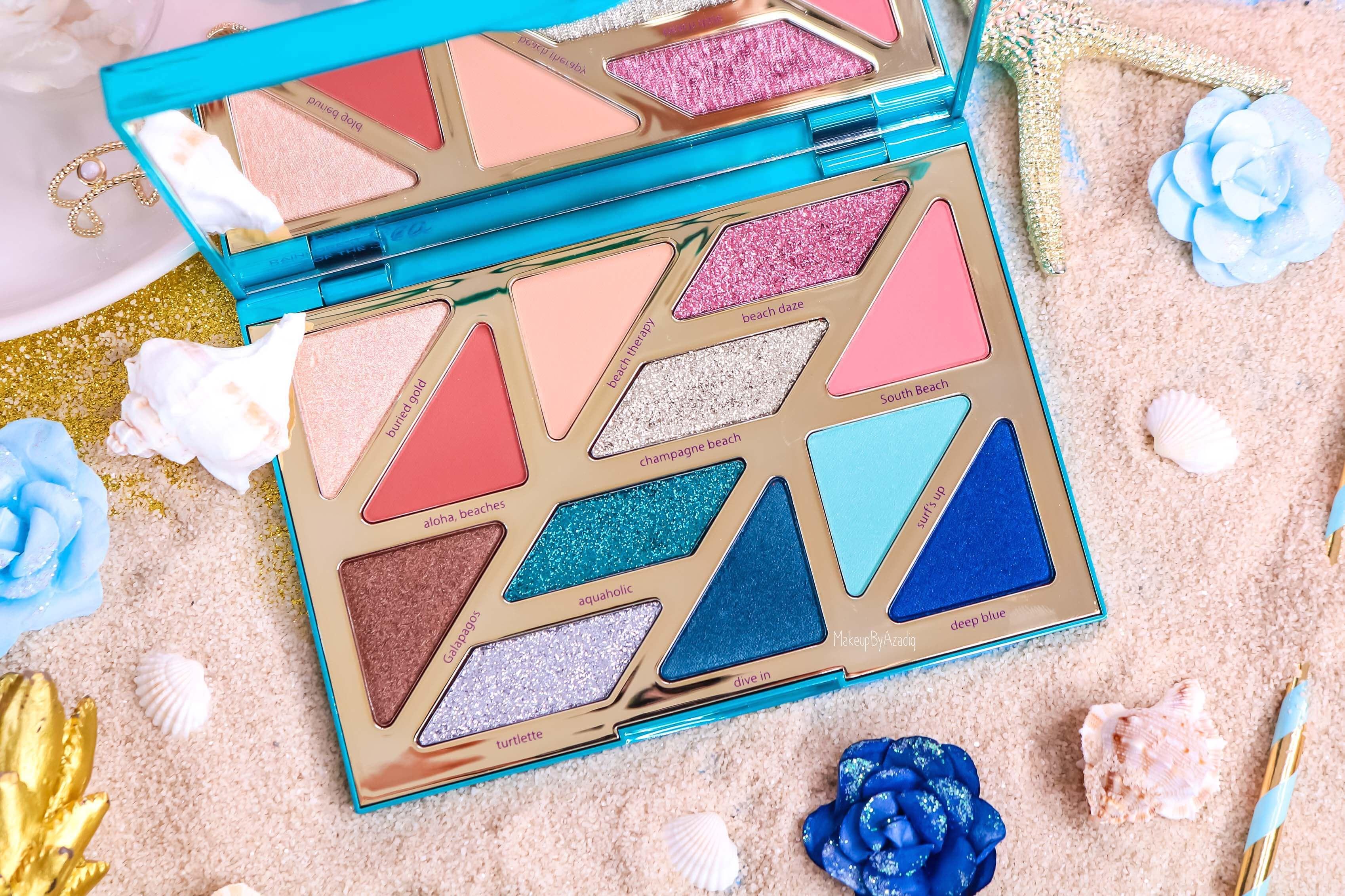 revue-palette-tarte-cosmetics-france-sephora-makeupbyazadig-swatch-prix-avis-rainforest-of-the-sea-colors