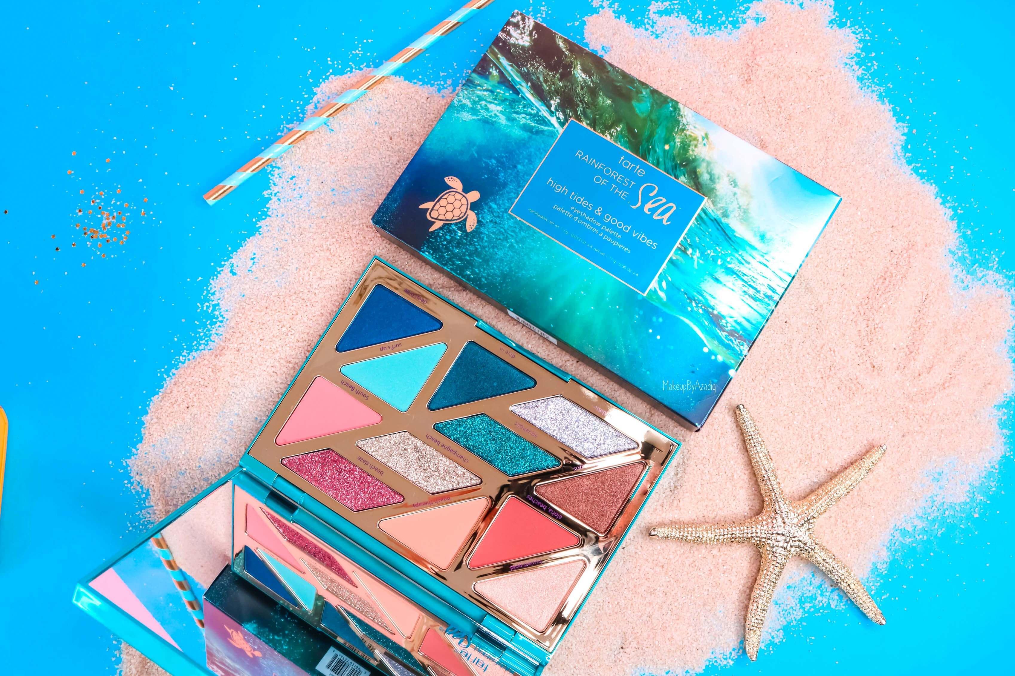 revue-palette-tarte-cosmetics-france-sephora-makeupbyazadig-swatch-prix-avis-rainforest-of-the-sea-good-vibes