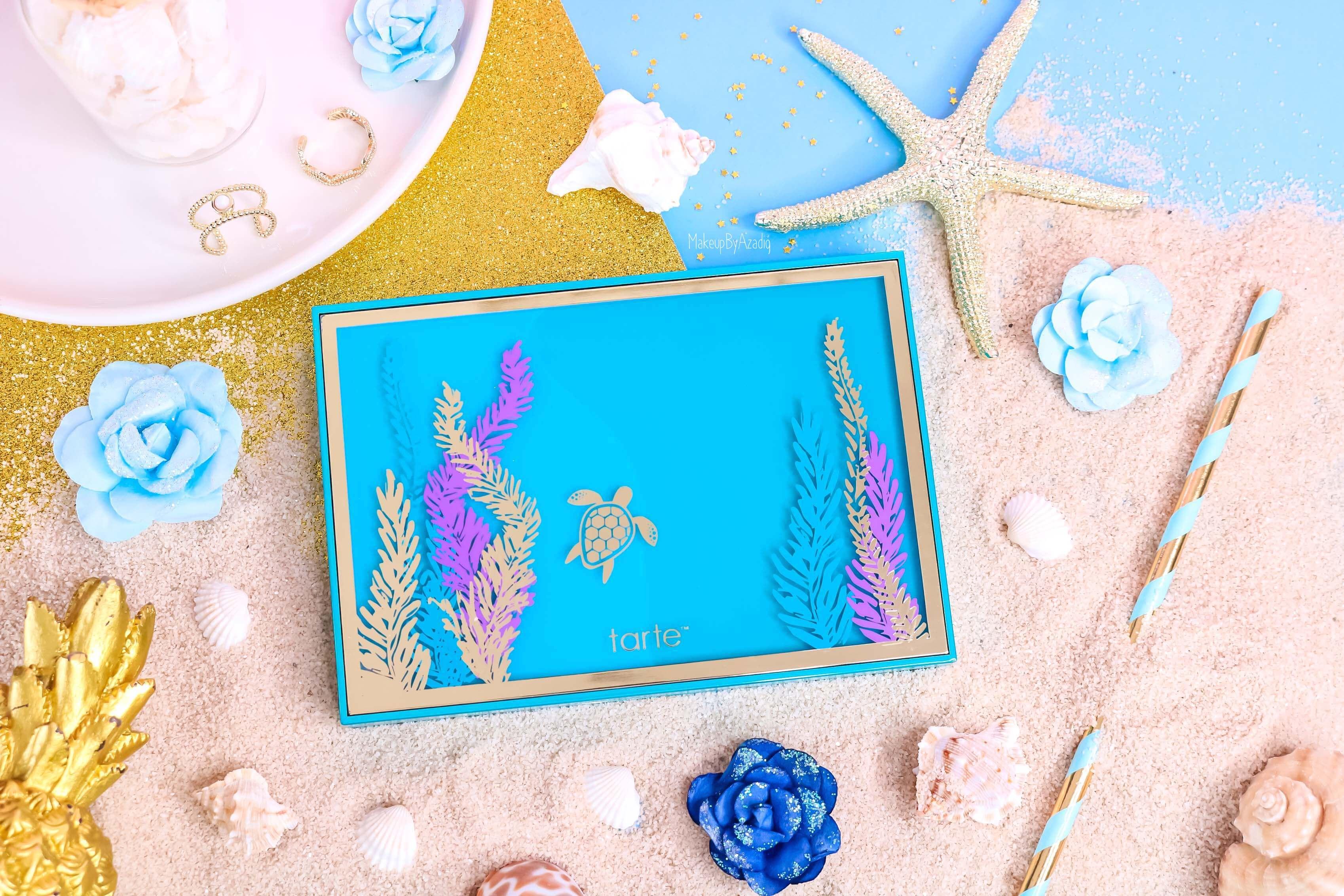 revue-palette-tarte-cosmetics-france-sephora-makeupbyazadig-swatch-prix-avis-rainforest-of-the-sea-tortue