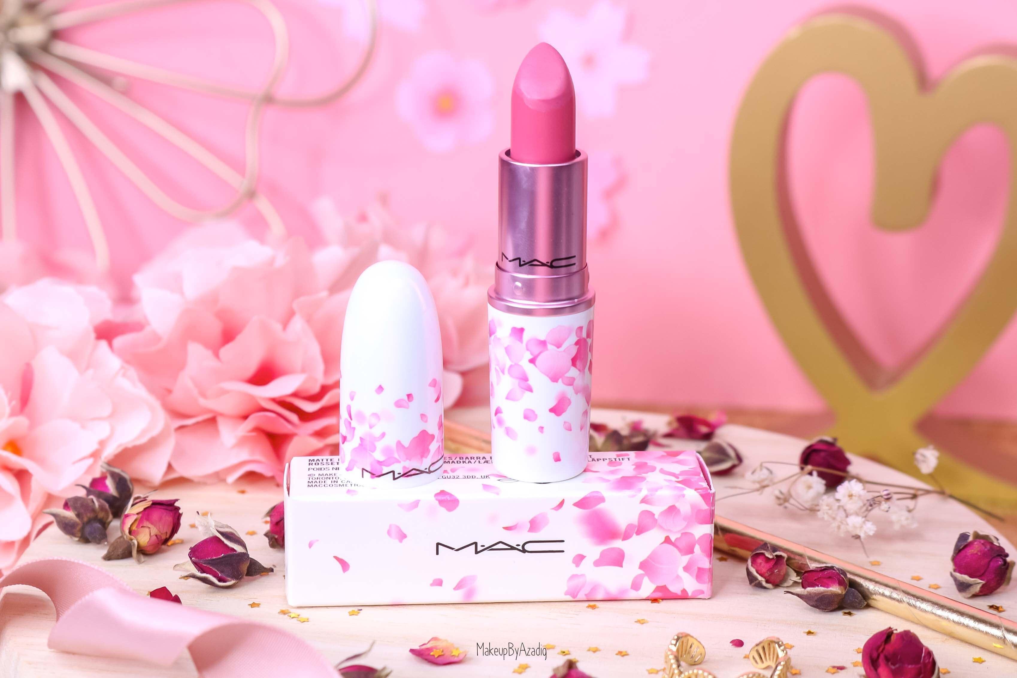 revue-rouge-a-levres-mac-cosmetics-collection-boom-boom-bloom-printemps-makeupbyazadig-avis-swatch-prix-france-rose