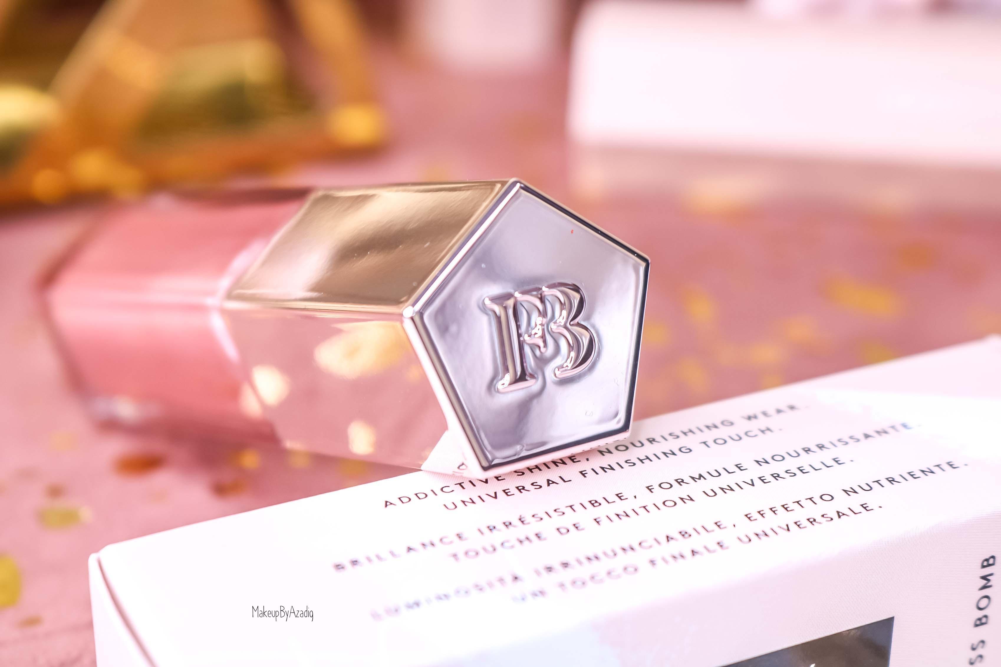 revue-gloss-levres-elumineur-universel-gloss-bomb-fussy-fenty-beauty-paris-rihanna-makeupbyazadig-lip-avis-prix-swatch-logo