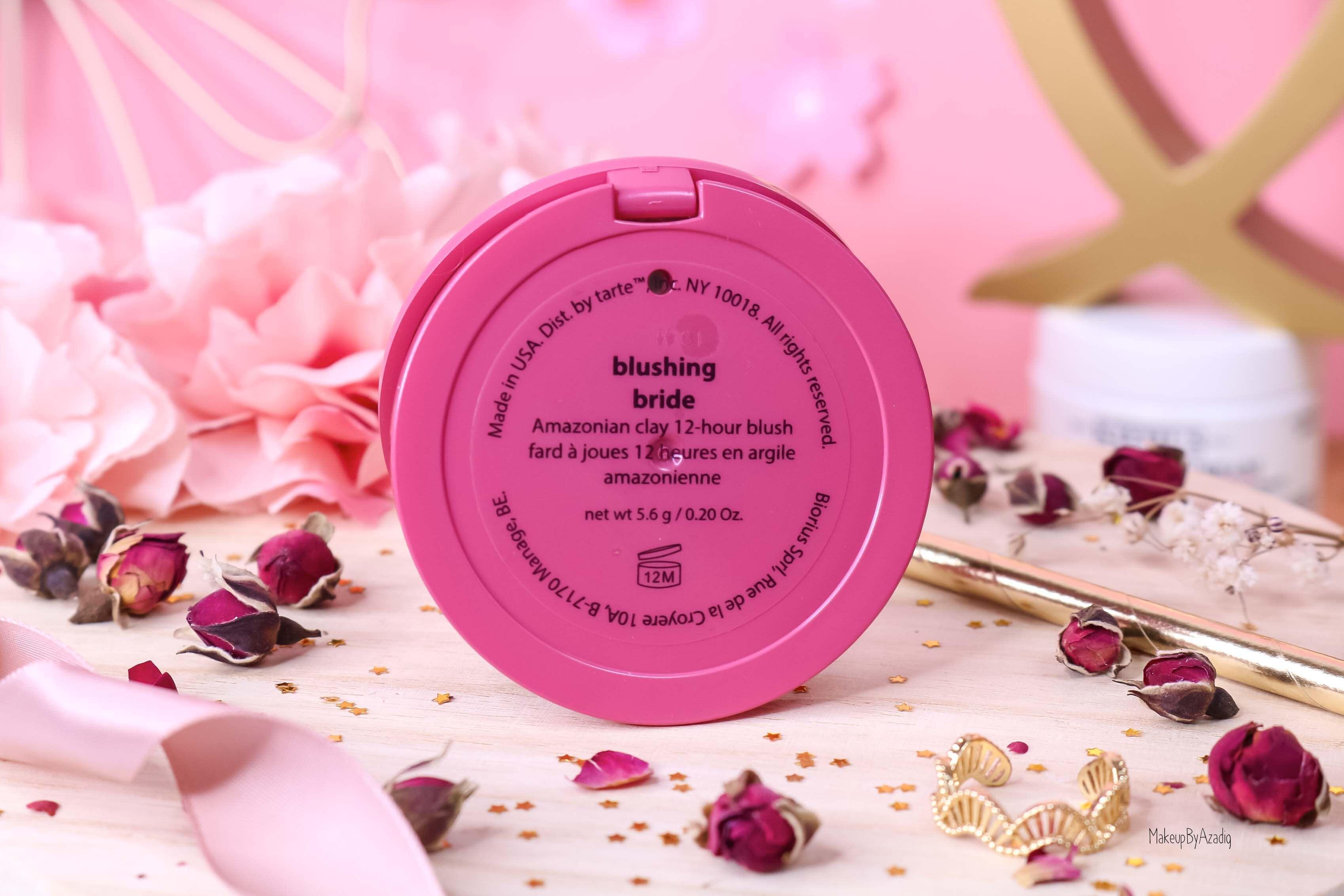 revue-blush-amazonian-clay-tarte-cosmetics-makeupbyazadig-sephora-france-blushing-bride-swatch-avis-prix-dos