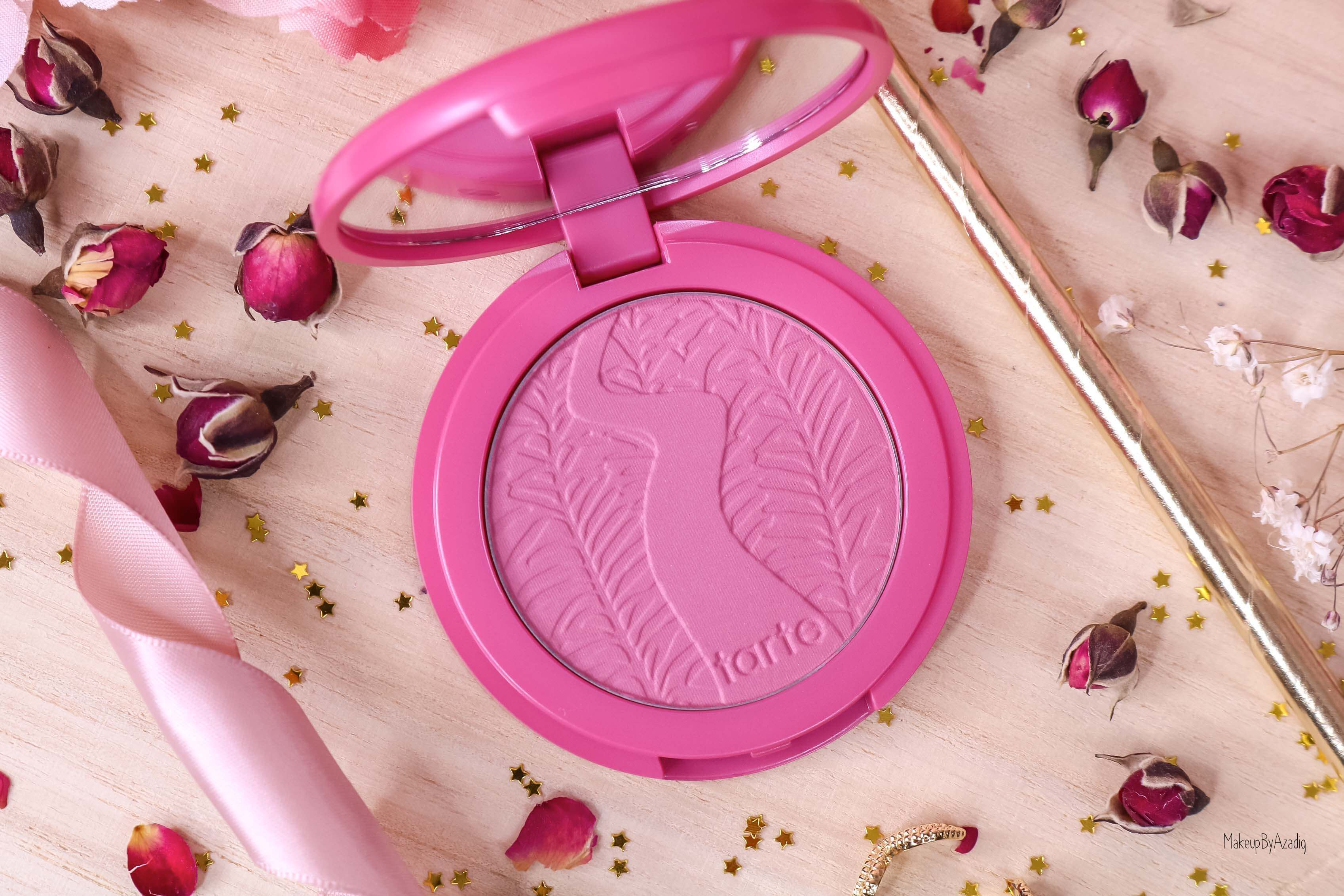 revue-blush-amazonian-clay-tarte-cosmetics-makeupbyazadig-sephora-france-blushing-bride-swatch-avis-prix-rose