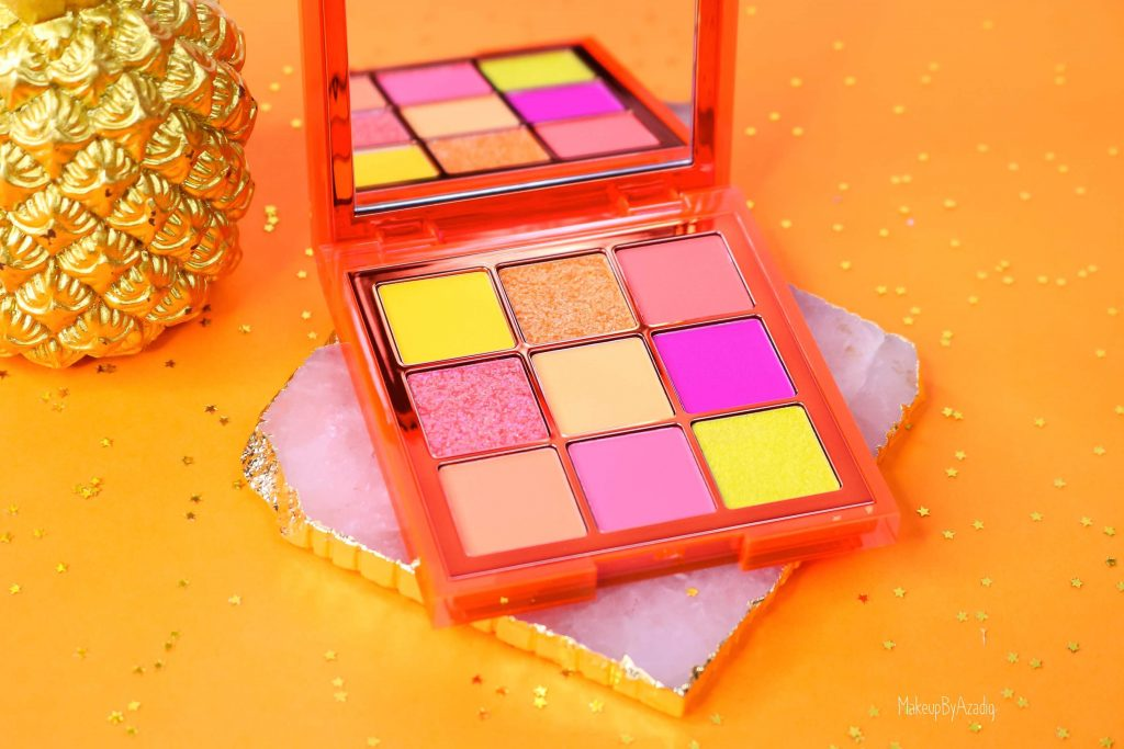 revue-review-palette-neon-obsession-huda-beauty-orange-pink-green-neon-palette-fard-paupieres-fluo-swatch-avis-prix-makeupbyazadig-miniature