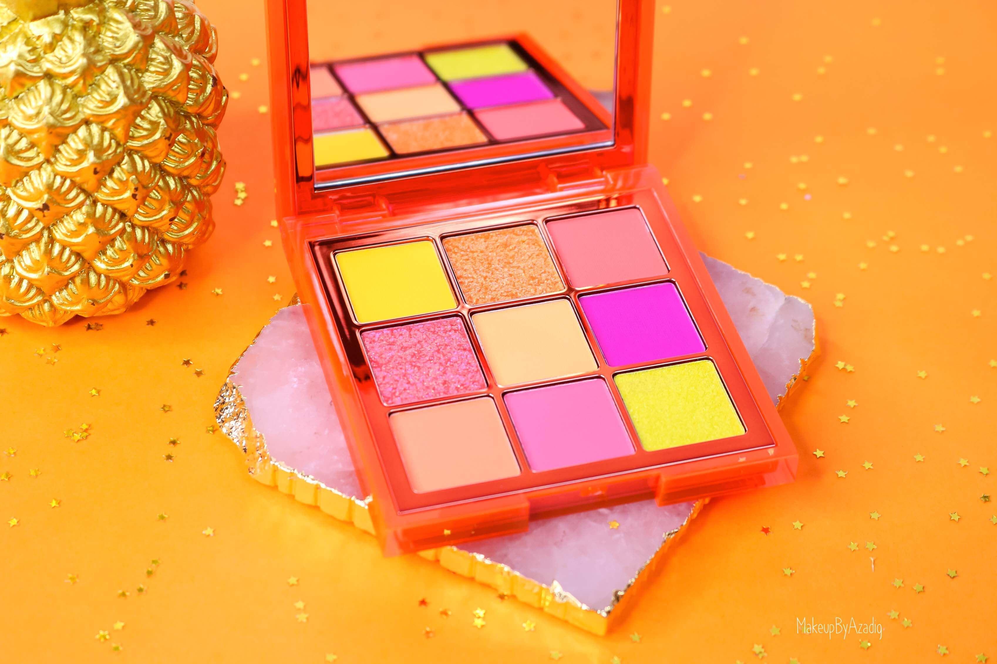 revue-review-palette-neon-obsession-huda-beauty-orange-pink-green-neon-palette-fard-paupieres-fluo-swatch-avis-prix-makeupbyazadig-miniature