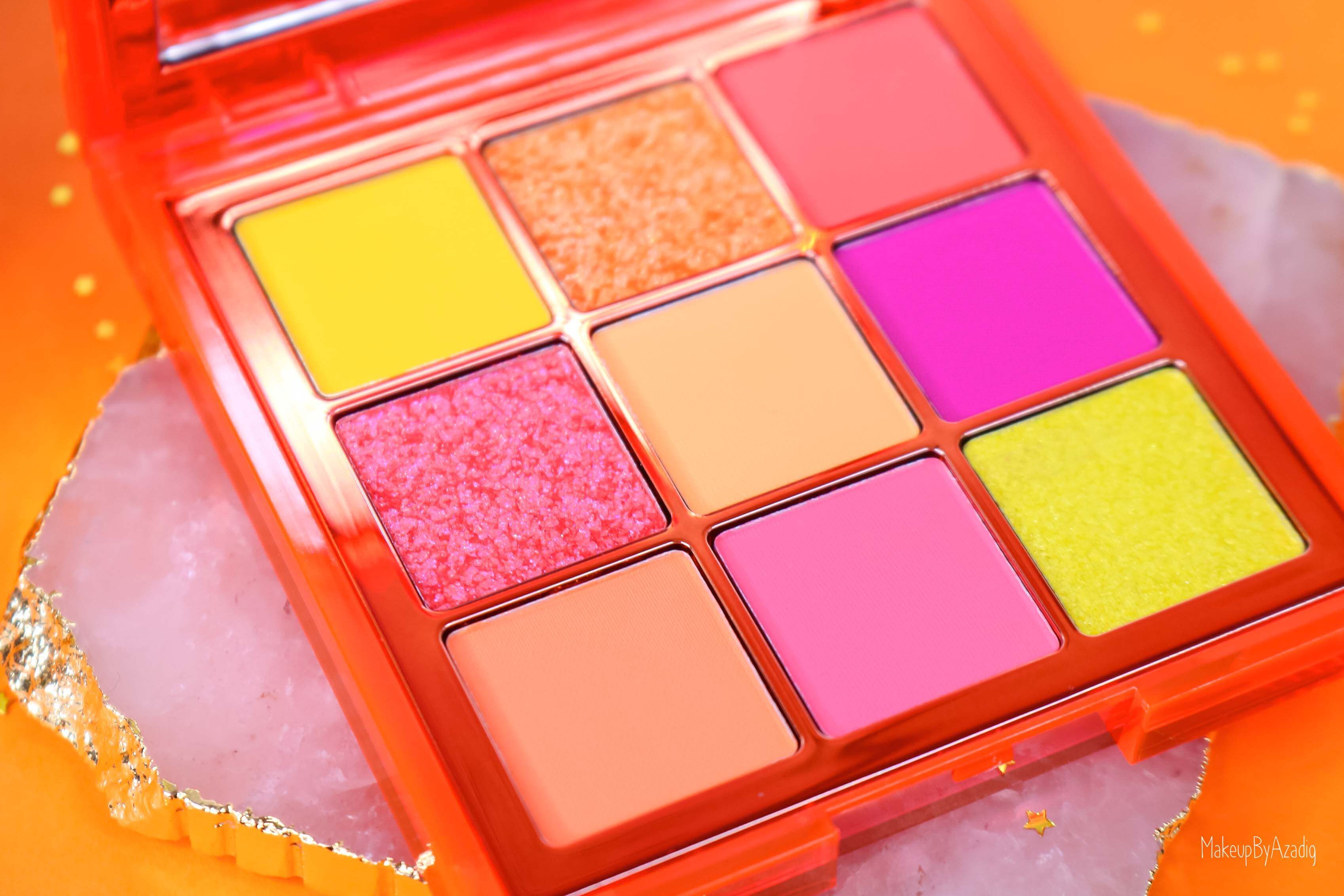 revue-review-palette-neon-obsession-huda-beauty-orange-pink-green-neon-palette-fard-paupieres-fluo-swatch-avis-prix-makeupbyazadig-zoom