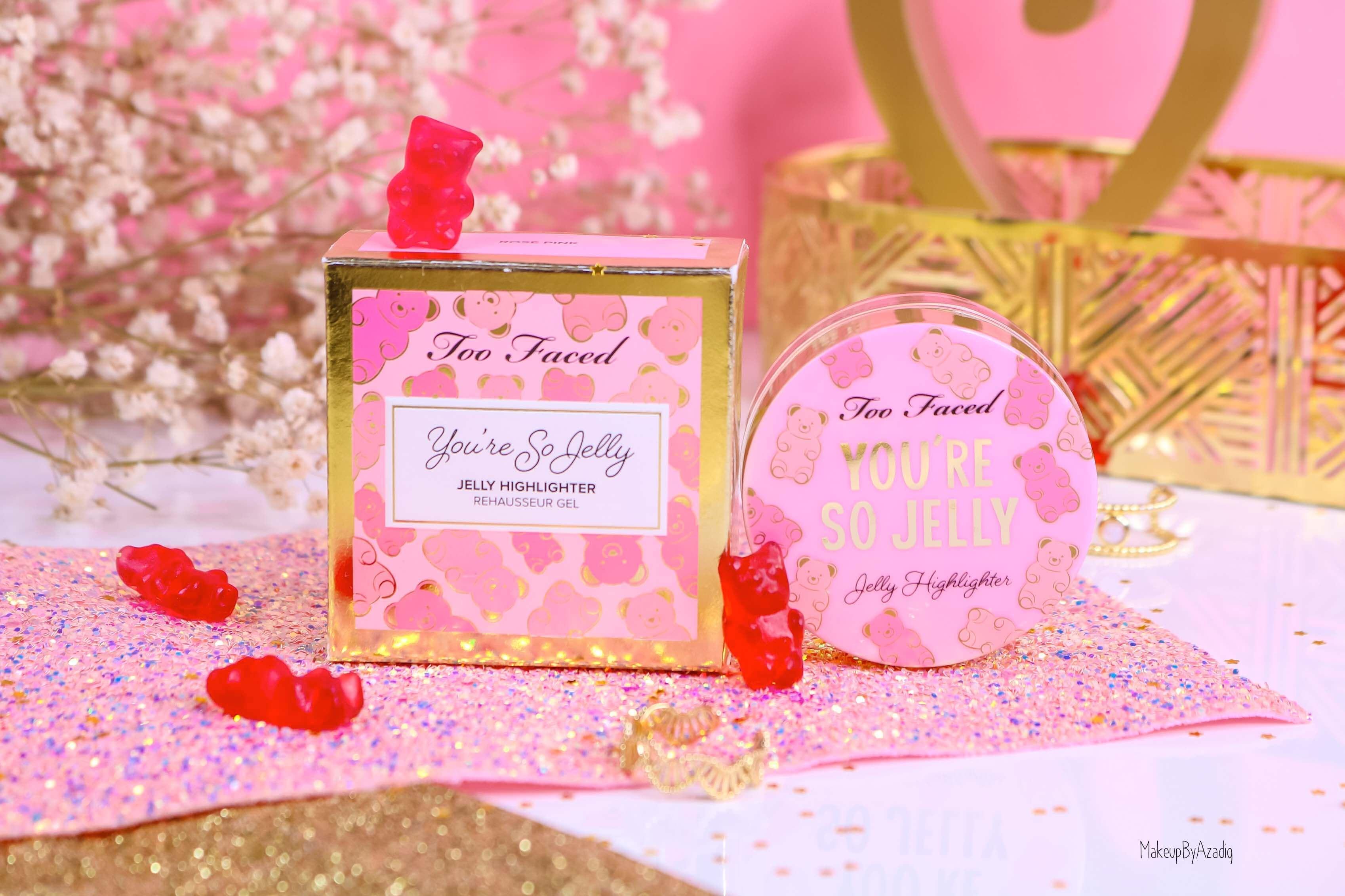 revue-highlighter-jelly-gel-rose-pink-too-faced-texture-cute-avis-prix-swatch-makeupbyazadig-sephora-france-miniature