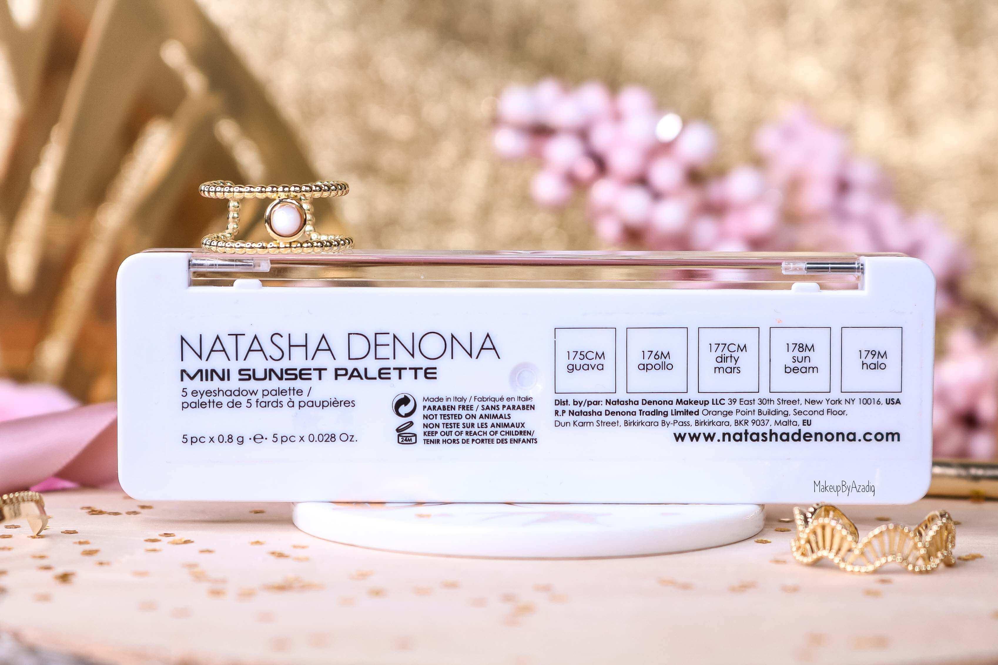 revue-palette-mini-sunset-natasha-denona-sephora-france-avis-prix-swatch-gold-champagne-burgundy-makeupbyazadig-eyeshadow-dos