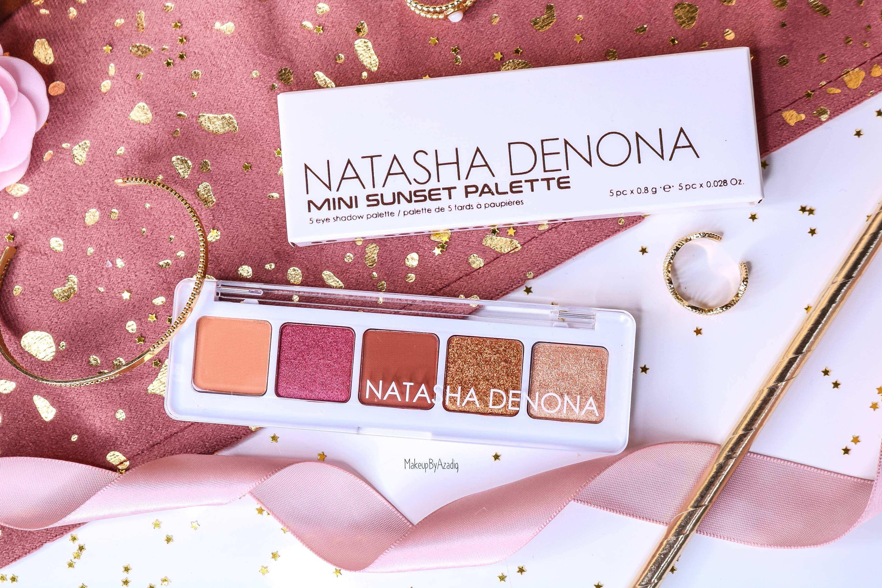 revue-palette-mini-sunset-natasha-denona-sephora-france-avis-prix-swatch-gold-champagne-burgundy-makeupbyazadig-eyeshadow-review