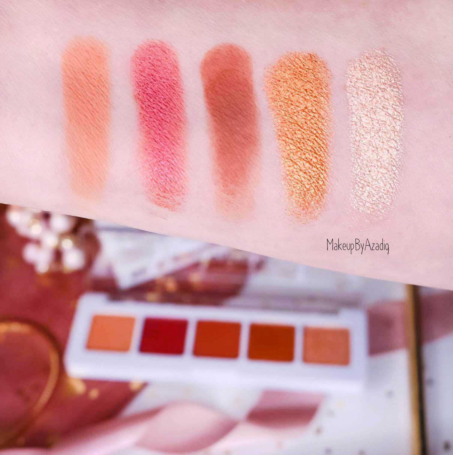 revue-palette-mini-sunset-natasha-denona-sephora-france-avis-prix-swatch-gold-champagne-burgundy-makeupbyazadig-eyeshadow-swatches