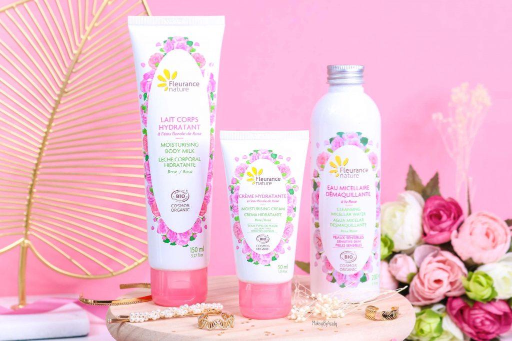 revue-produit-corps-visage-rose-fleurance-nature-hydratant-bio-cosmos-organic-avis-prix-makeupbyazadig-eau-micellaire-miniature-final