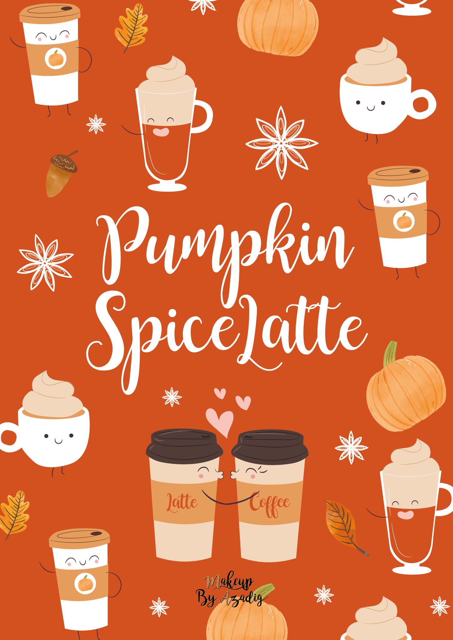 fond-decran-wallpaper-automne-leaves-autumn-pumpkin-spice-latte-starbucks-ipad-tablette-apple-makeupbyazadig-tendance