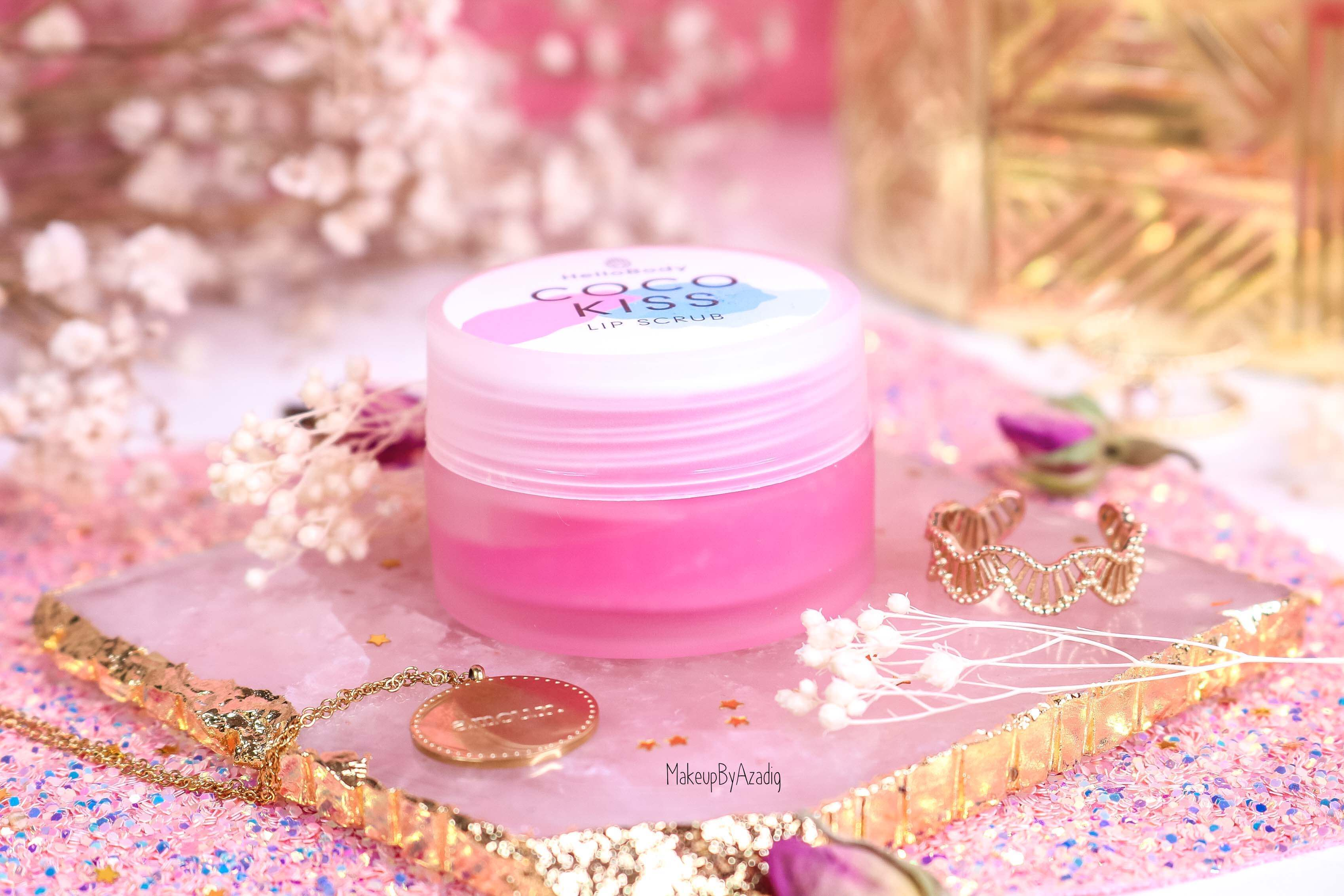 revue-baume-gommage-levres-coco-kiss-hellobody-avis-prix-swatch-makeupbyazadig-efficacite-lip-scrub-pot