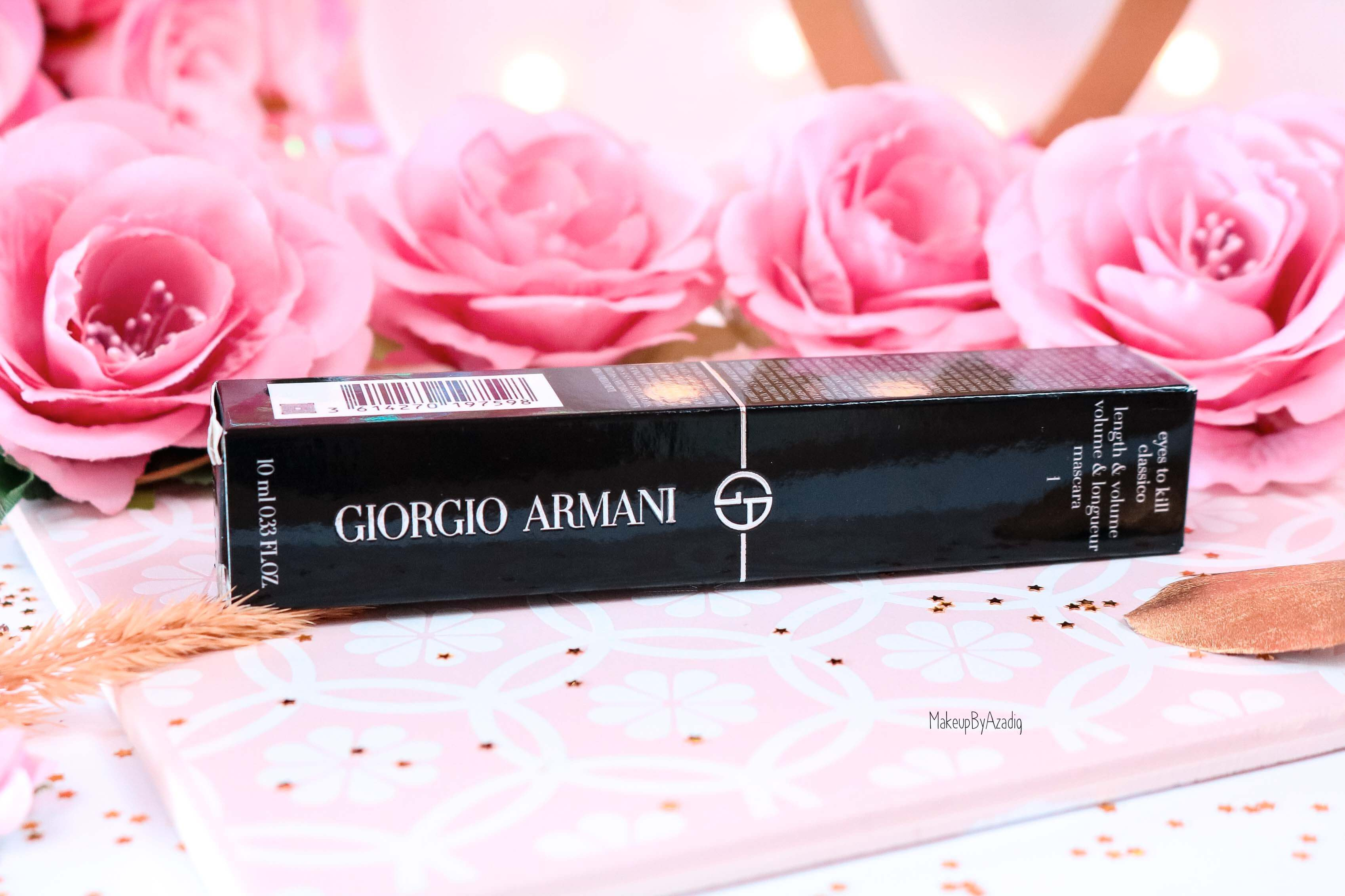 revue-meilleur-mascara-noir-giorgio-armani-eyes-to-kill-classico-volume-longueur-avis-prix-sephora-makeupbyazadig-packaging