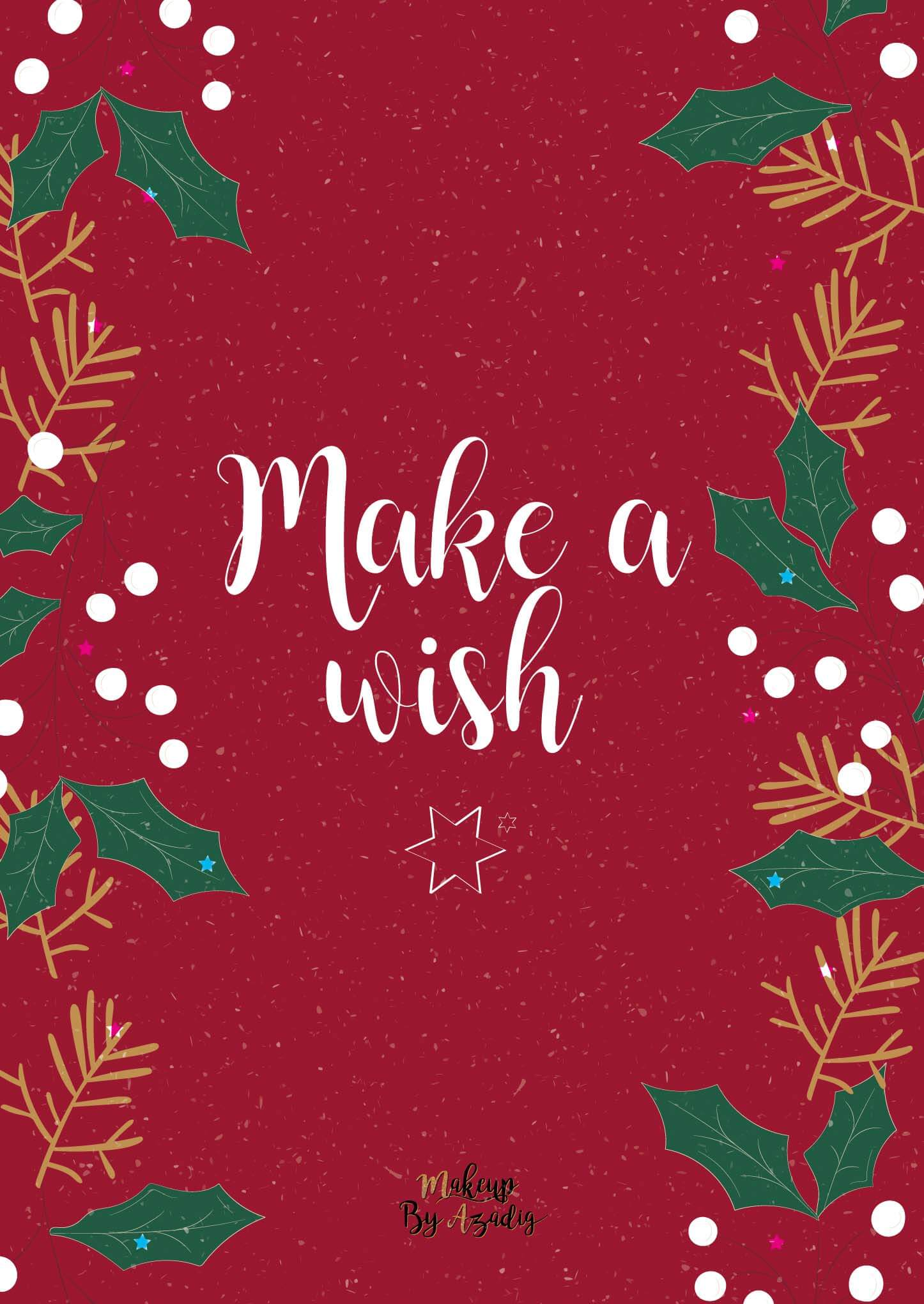 fond-decran-wallpaper-christmas-noel-make-a-wish-ipad-tablette-apple-makeupbyazadig-tendance