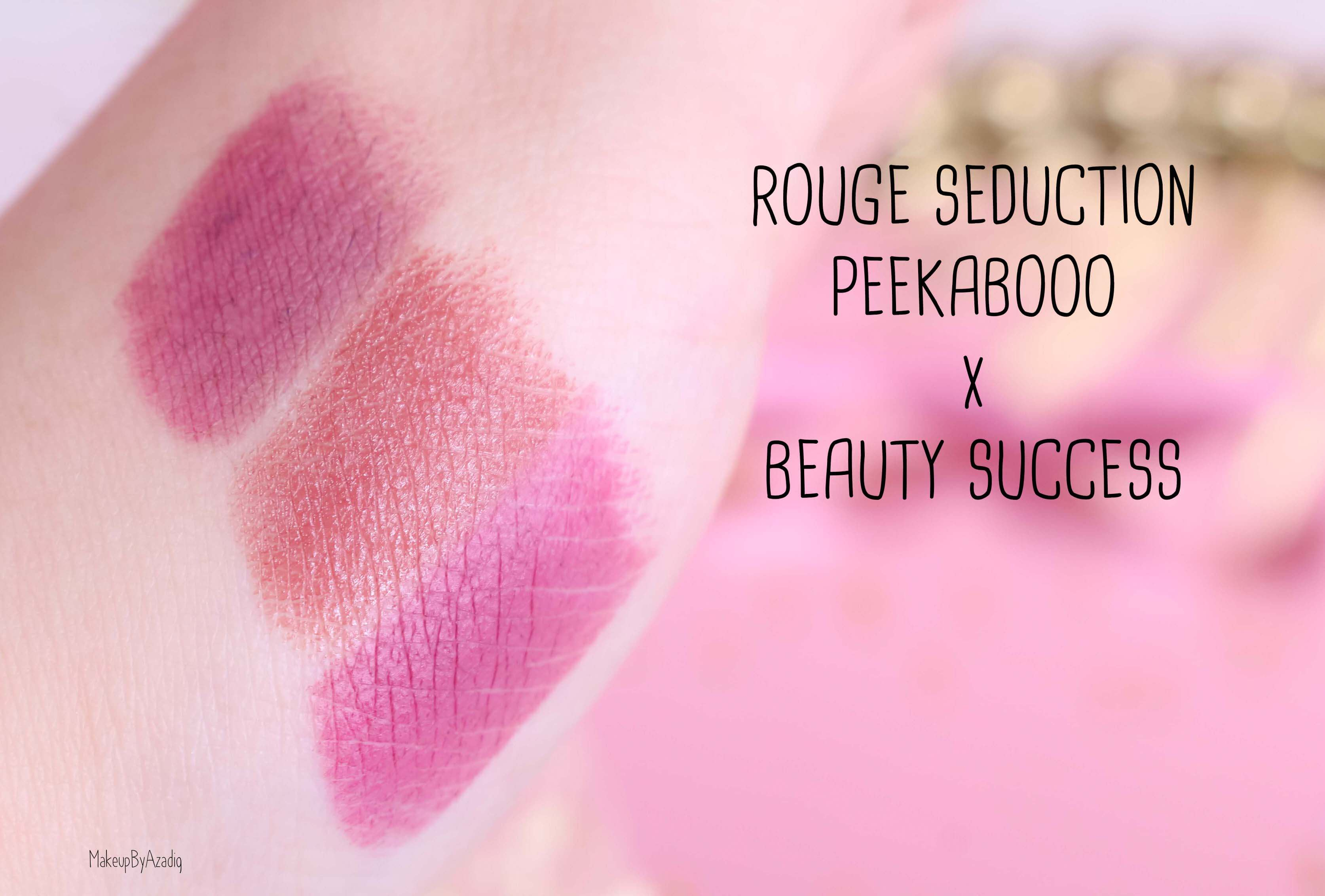 revue-collection-capsule-collaboration-youtubeuse-blogueuse-peekabooo-beauty-success-rouge-levres-babybooo-makeupbyazadig-avis-prix-swatches