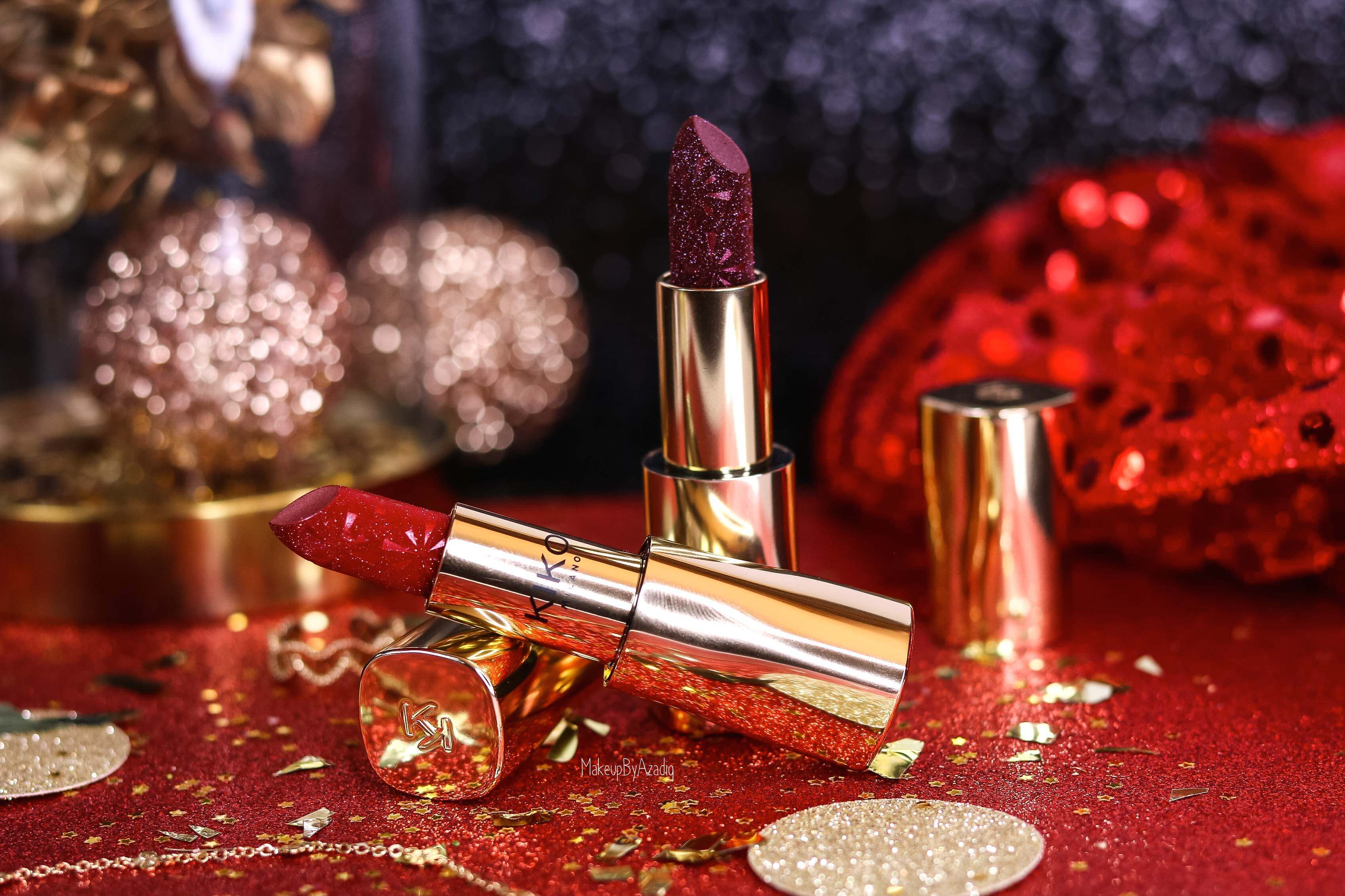 revue-collection-noel-kiko-milano-troyes-magical-holiday-rouge-levres-fard-paupieres-makeupbyazadig-avis-prix-swatch-paillete-2019-metallise