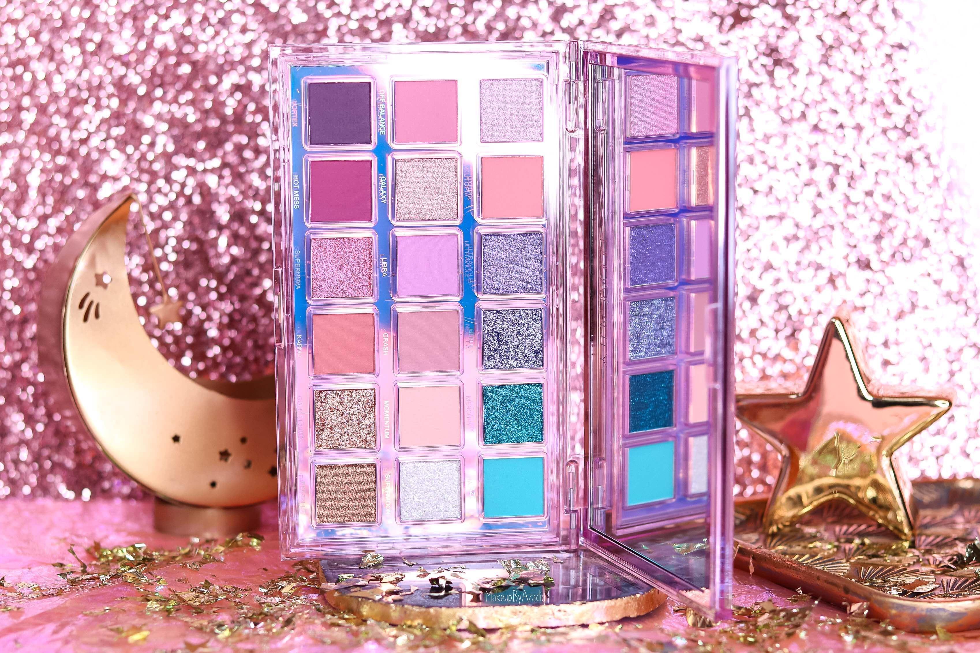 revue-palette-mercury-retrograde-huda-beauty-sephora-france-makeupbyazadig-avis-prix-swatch-astrologie-colors