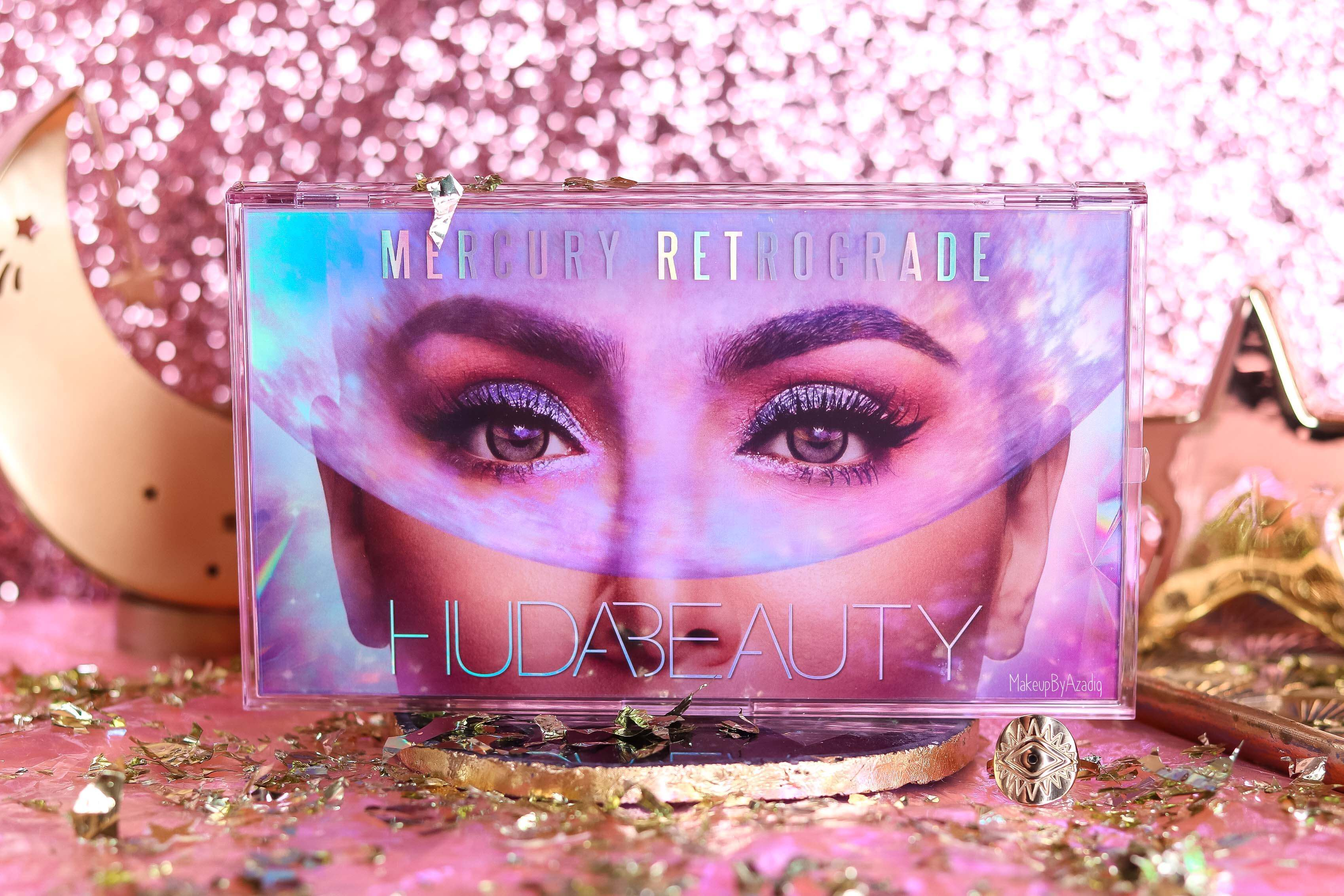 revue-palette-mercury-retrograde-huda-beauty-sephora-france-makeupbyazadig-avis-prix-swatch-astrologie-packaging