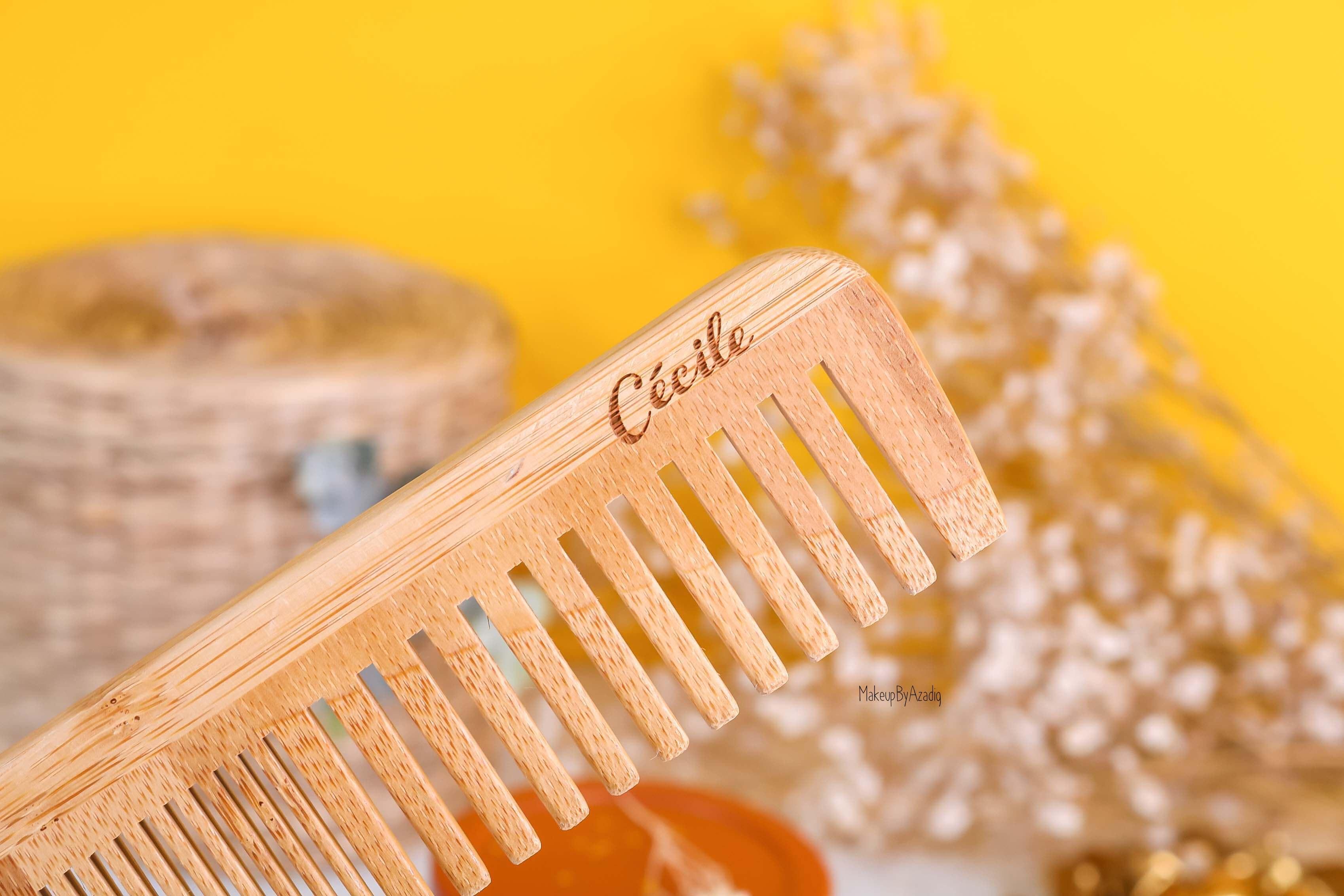 L'attention trop adorable, un peigne en bambou gravé avec mon prénom *-*